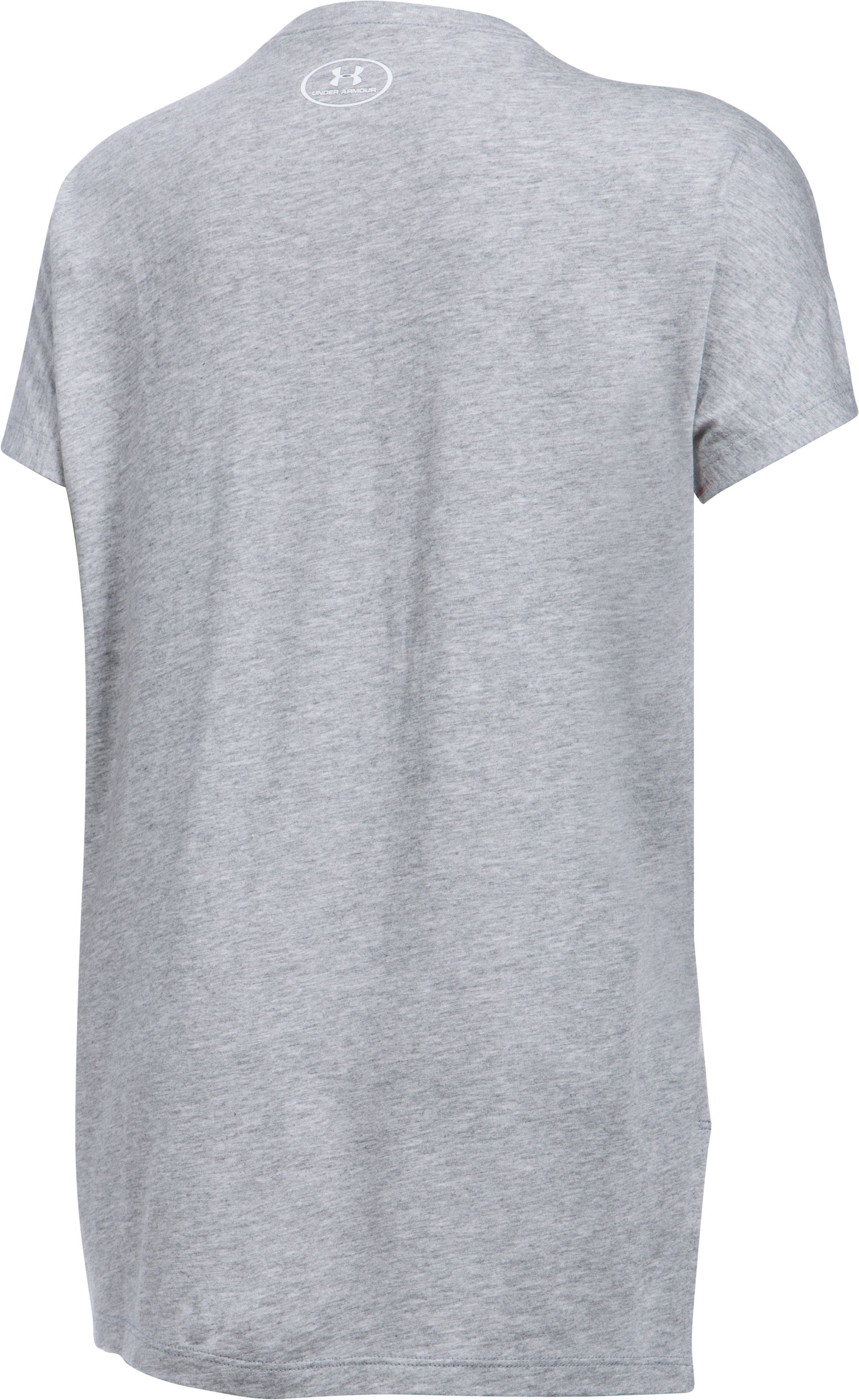 Girls' UA Fierce Short Sleeve T-Shirt, True Gray Heather