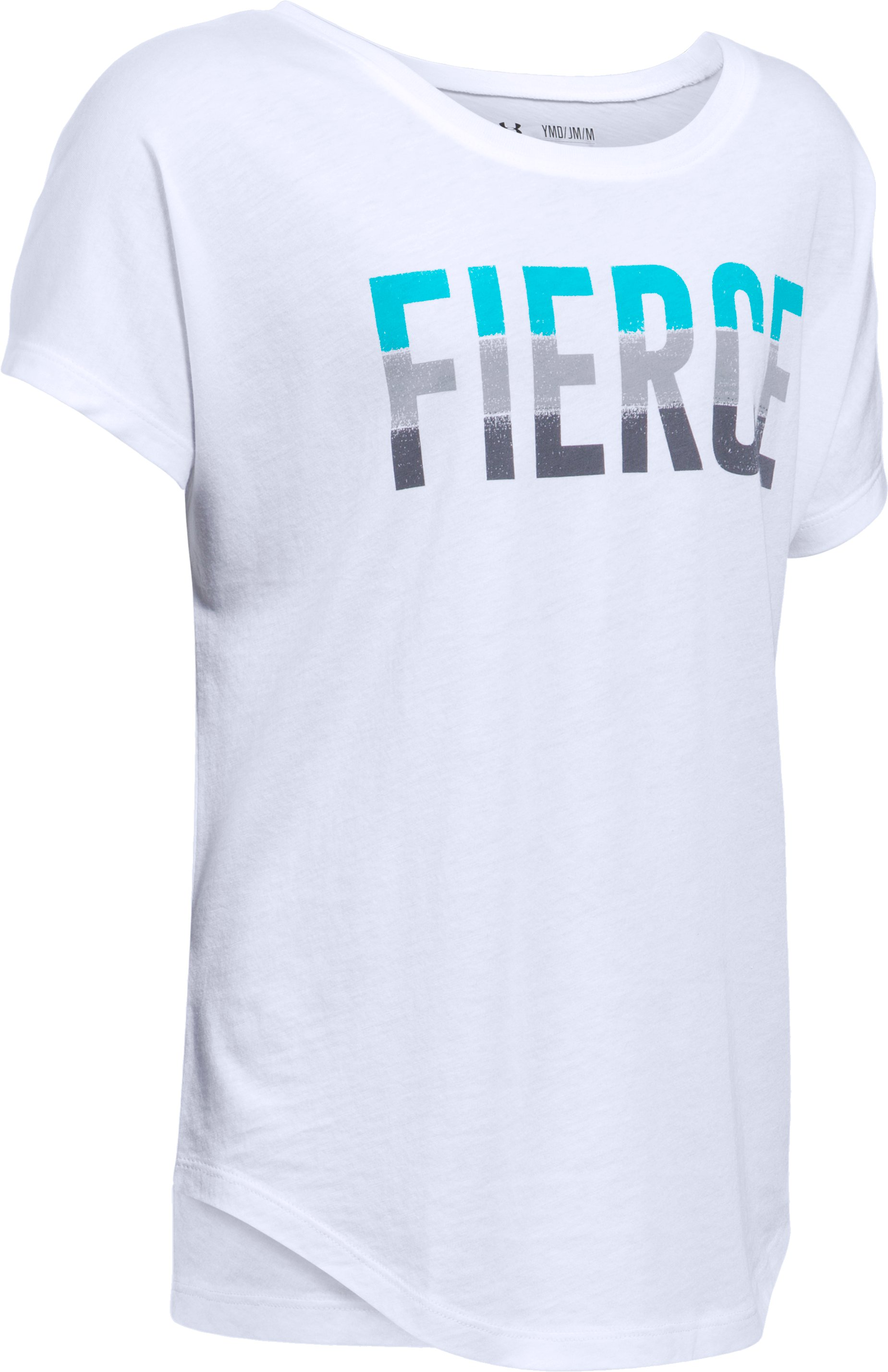 Girls' UA Fierce Short Sleeve T-Shirt, White,