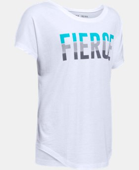 Girls' UA Fierce Short Sleeve T-Shirt  1  Color Available $24.99