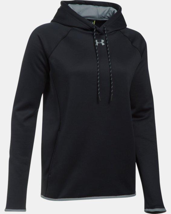 Women's  UA Double Threat Armour Fleece® Hoodie, Black, pdpMainDesktop image number 8
