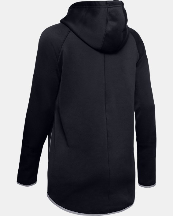 Women's  UA Double Threat Armour Fleece® Hoodie, Black, pdpMainDesktop image number 7