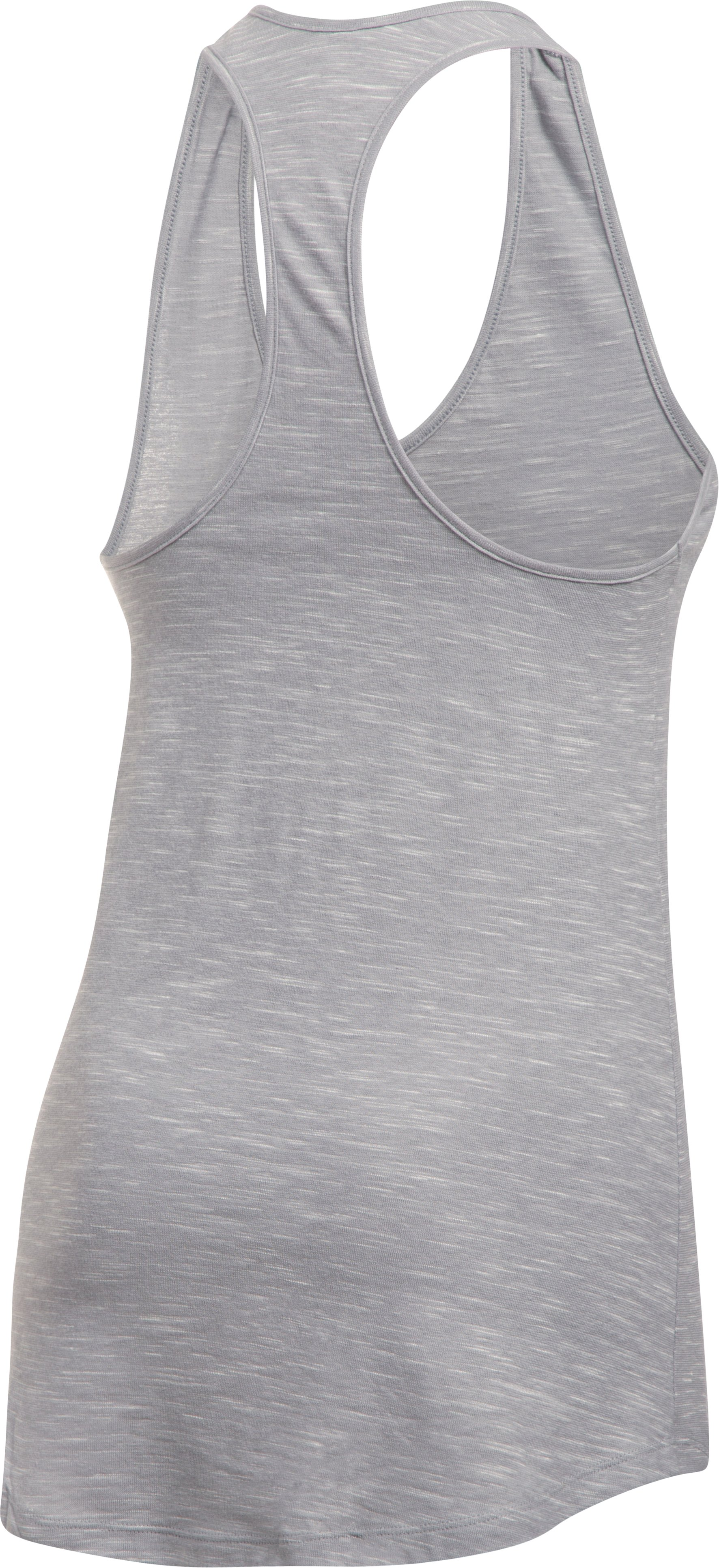 Women's UA Stadium Tank, True Gray Heather