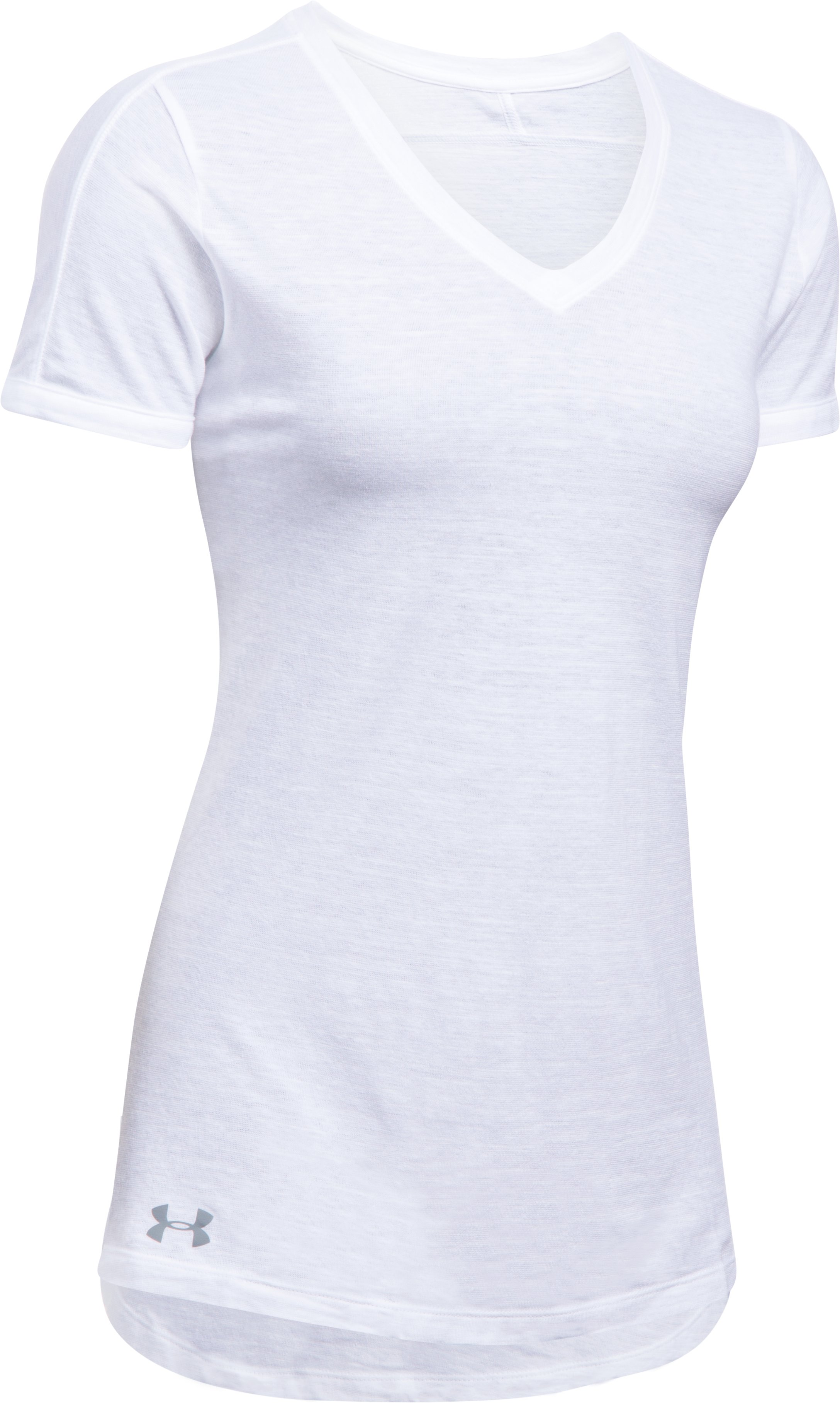 Women's UA Stadium Flow T-Shirt, White, undefined
