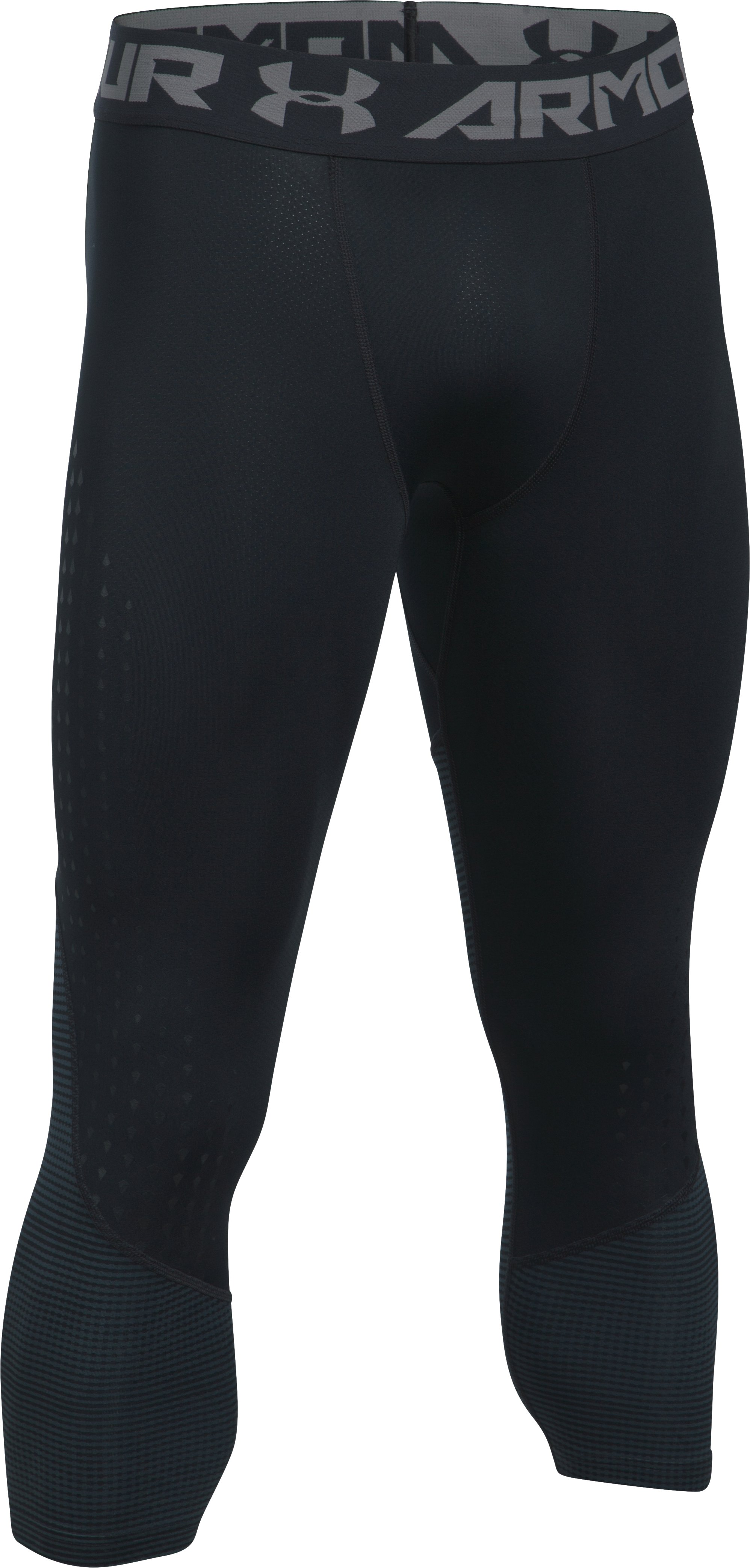 Men's HeatGear® CoolSwitch Armour Compression ¾ Leggings, Black , undefined