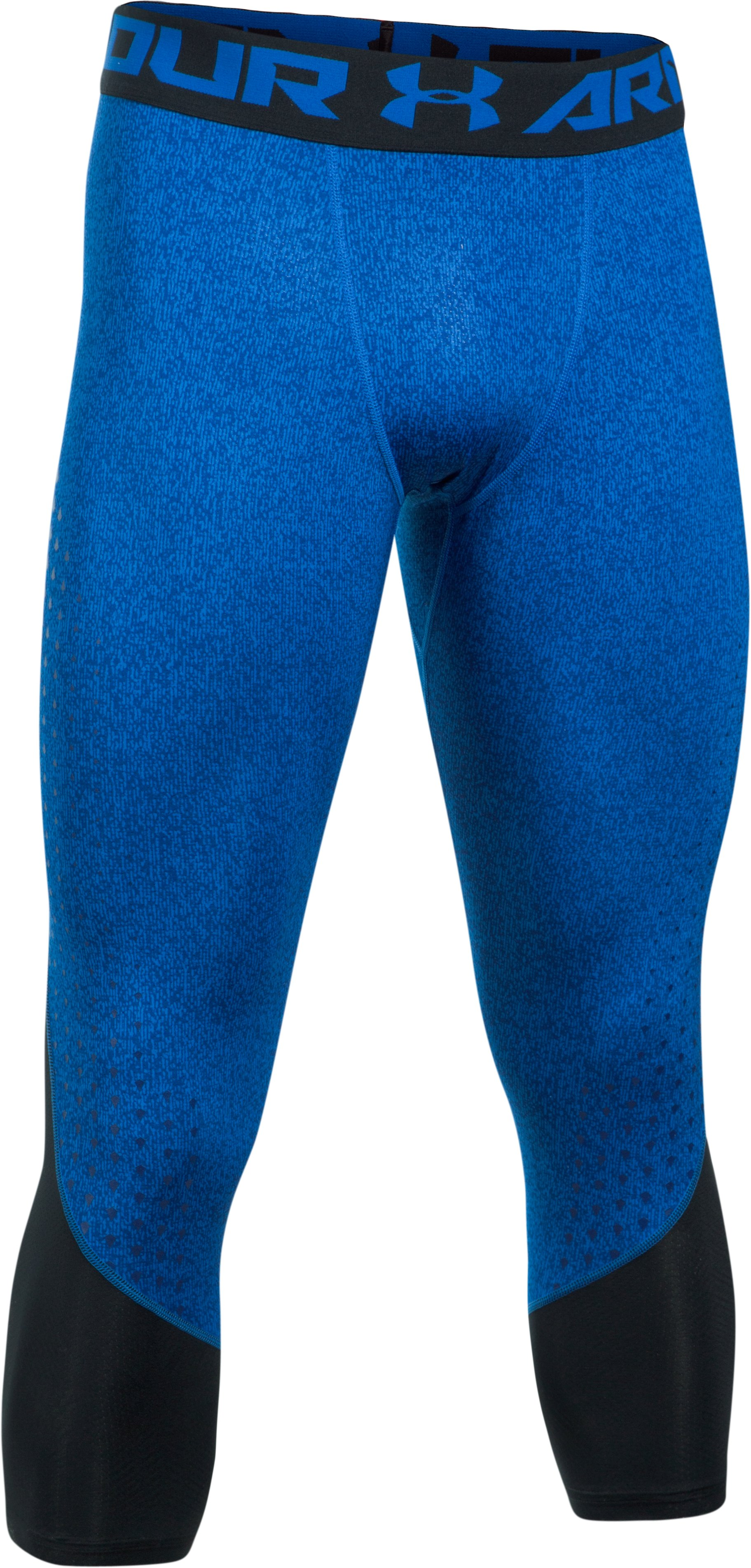 Men's HeatGear® CoolSwitch Armour Compression ¾ Leggings, BLUE MARKER,