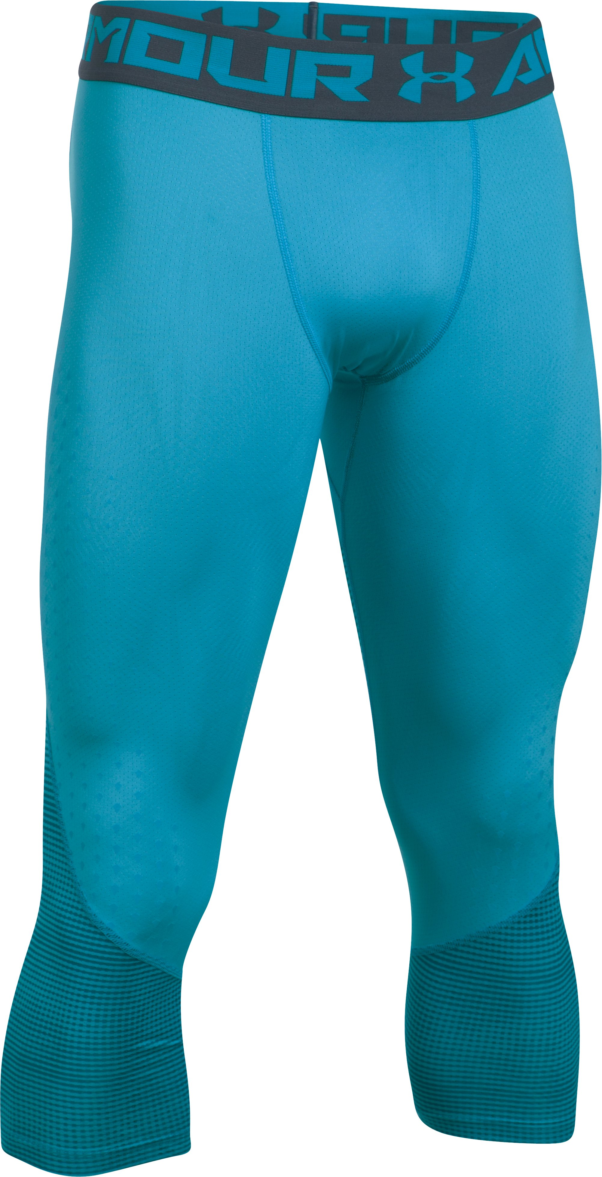 Men's HeatGear® CoolSwitch Armour Compression ¾ Leggings, BLUE SHIFT, undefined