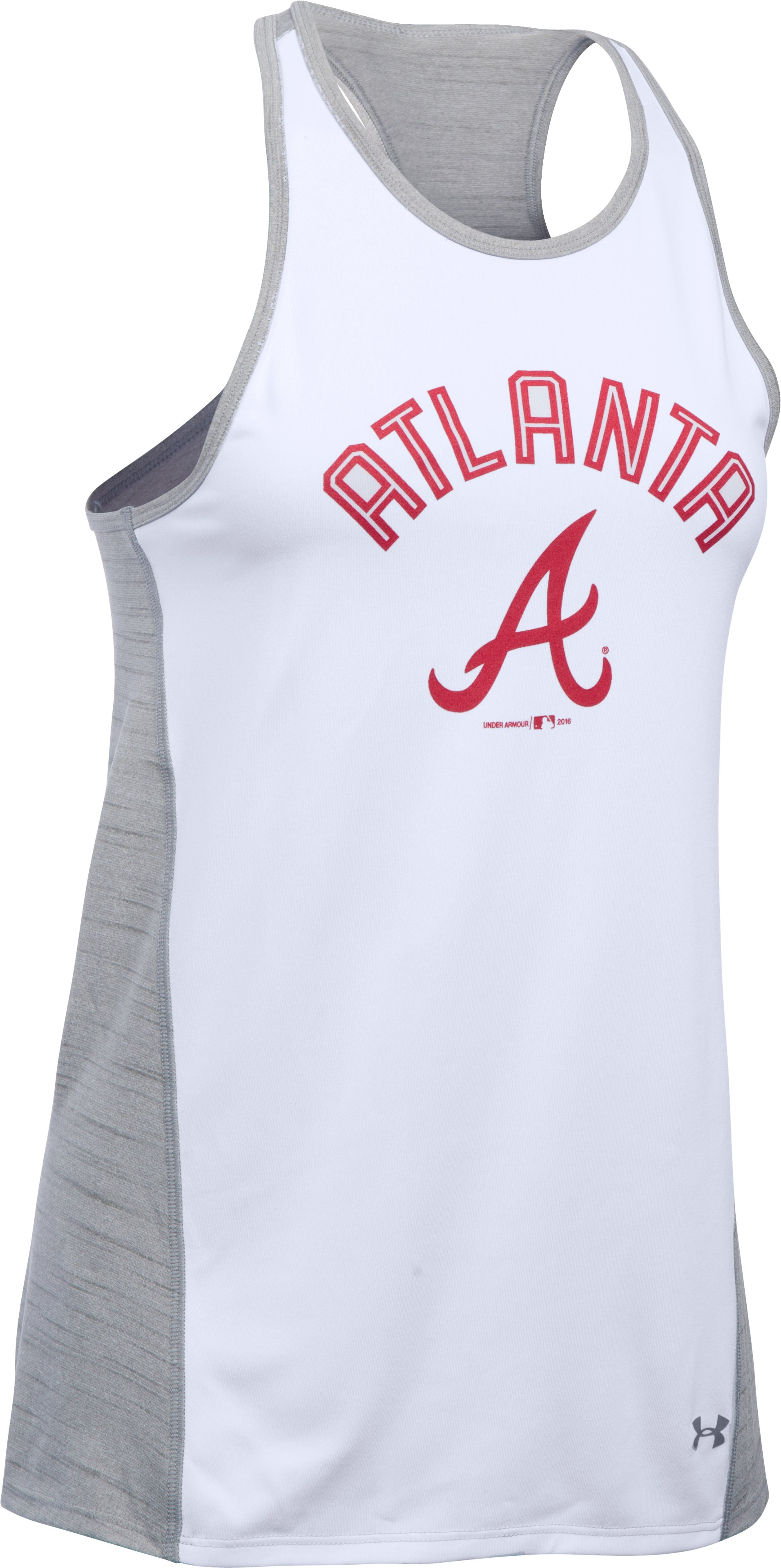 Women's Atlanta Braves UA Tech™ Tank, White,