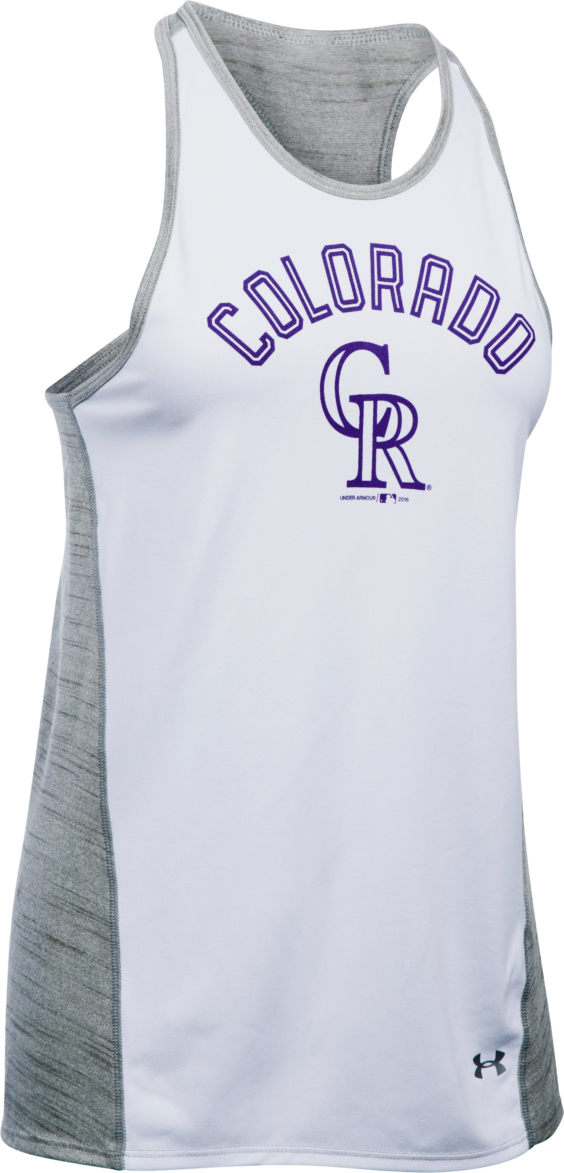 Women's Colorado Rockies UA Tech™ Tank, White