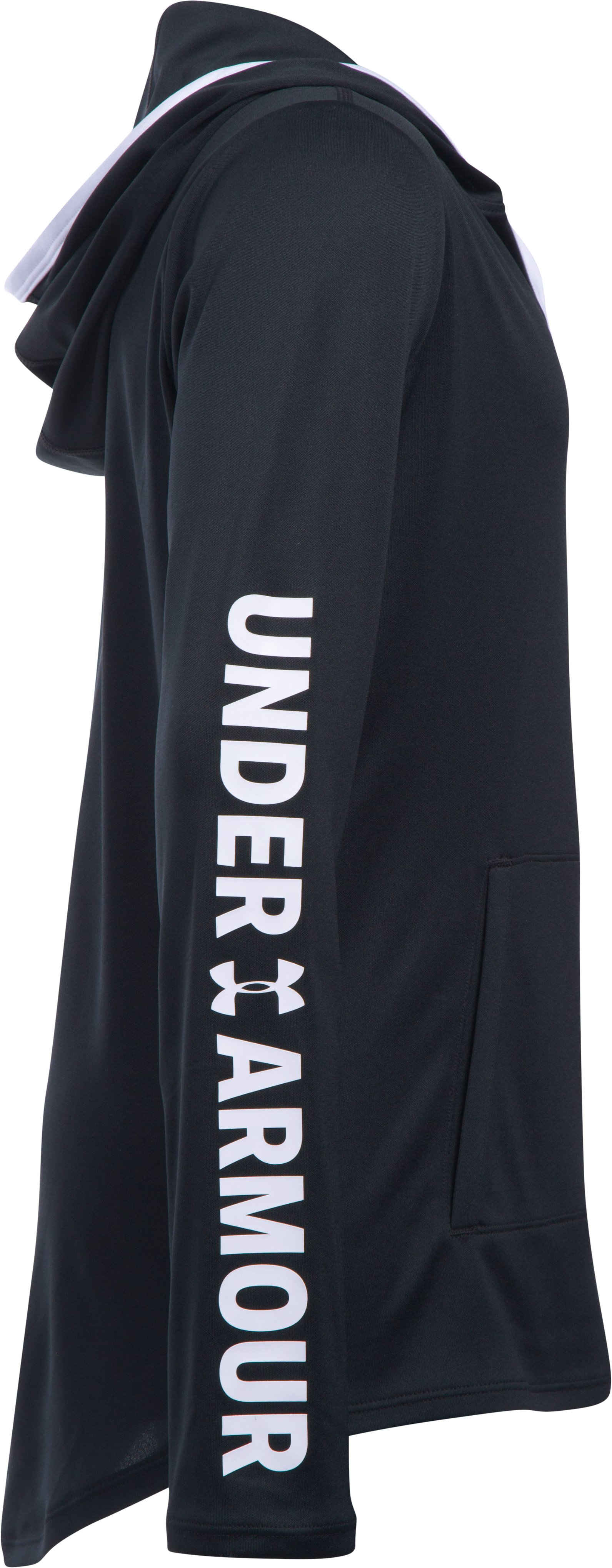 Girls' UA Tech Hoodie, Black ,