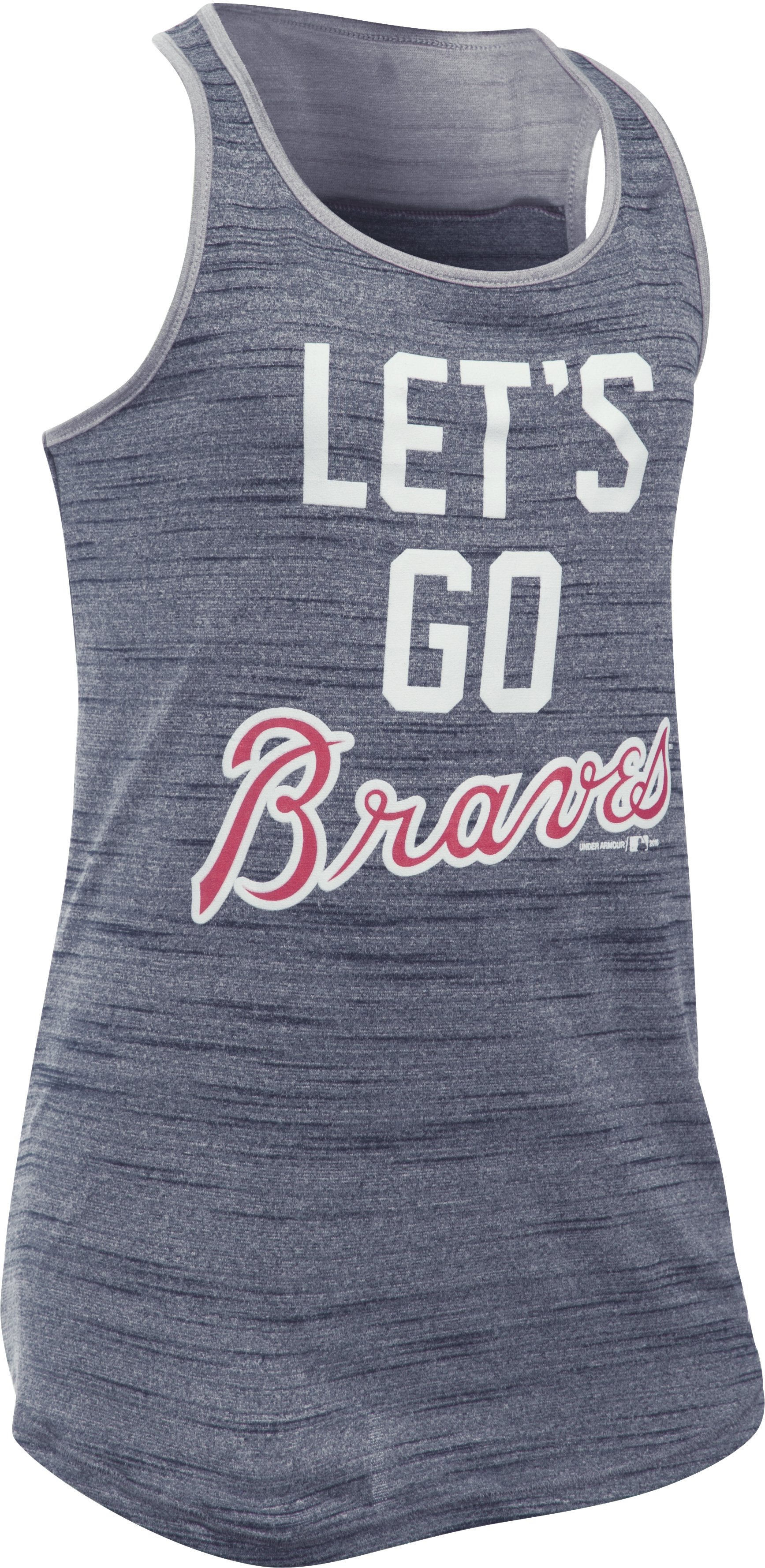 Girls' Atlanta Braves UA Tech™ Tank, Midnight Navy