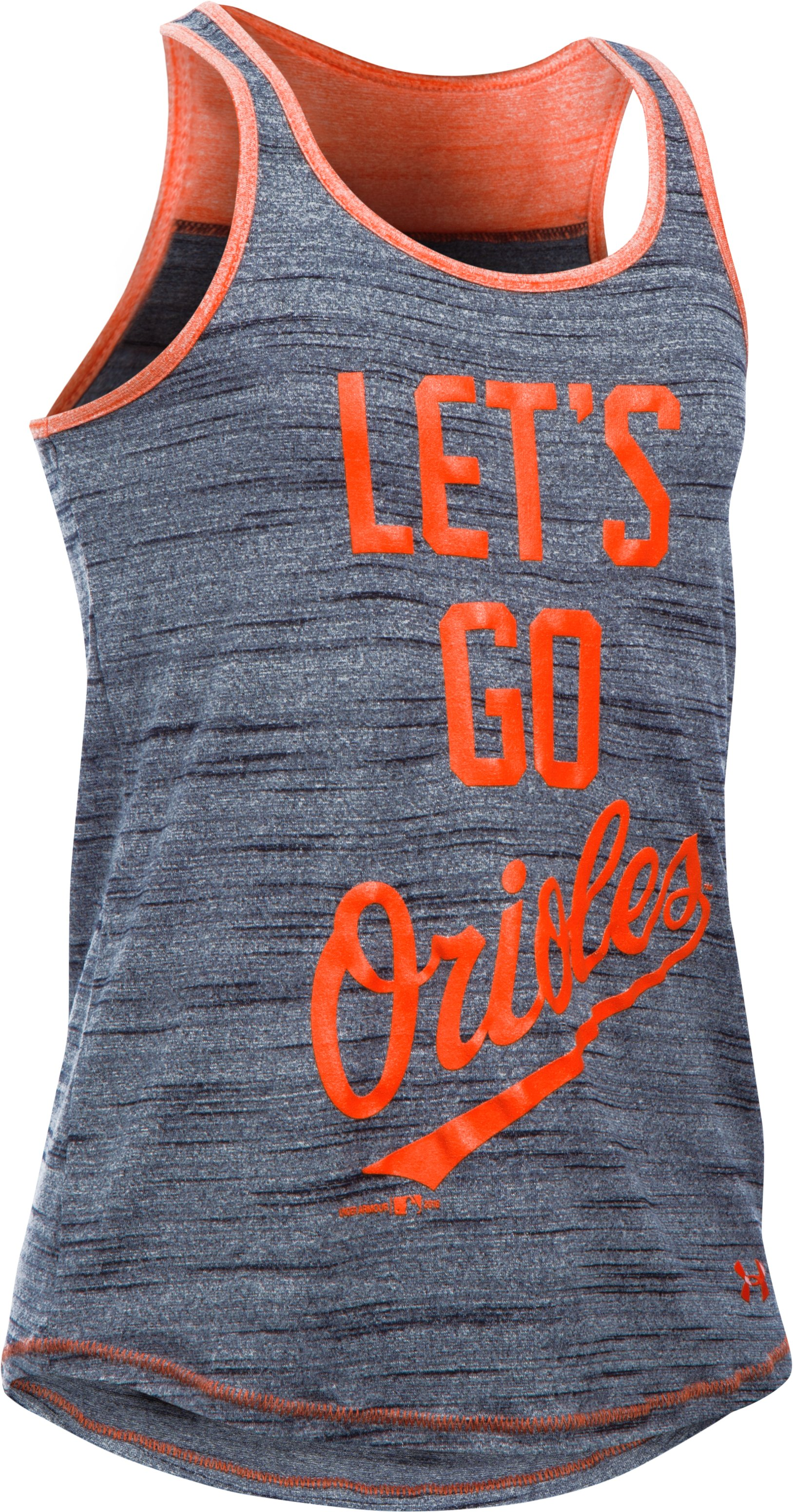 Girls' Baltimore Orioles UA Tech™ Tank, Black
