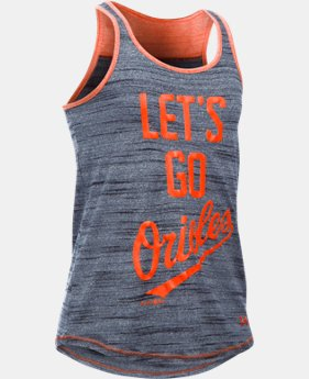 Girls' Baltimore Orioles UA Tech™ Tank