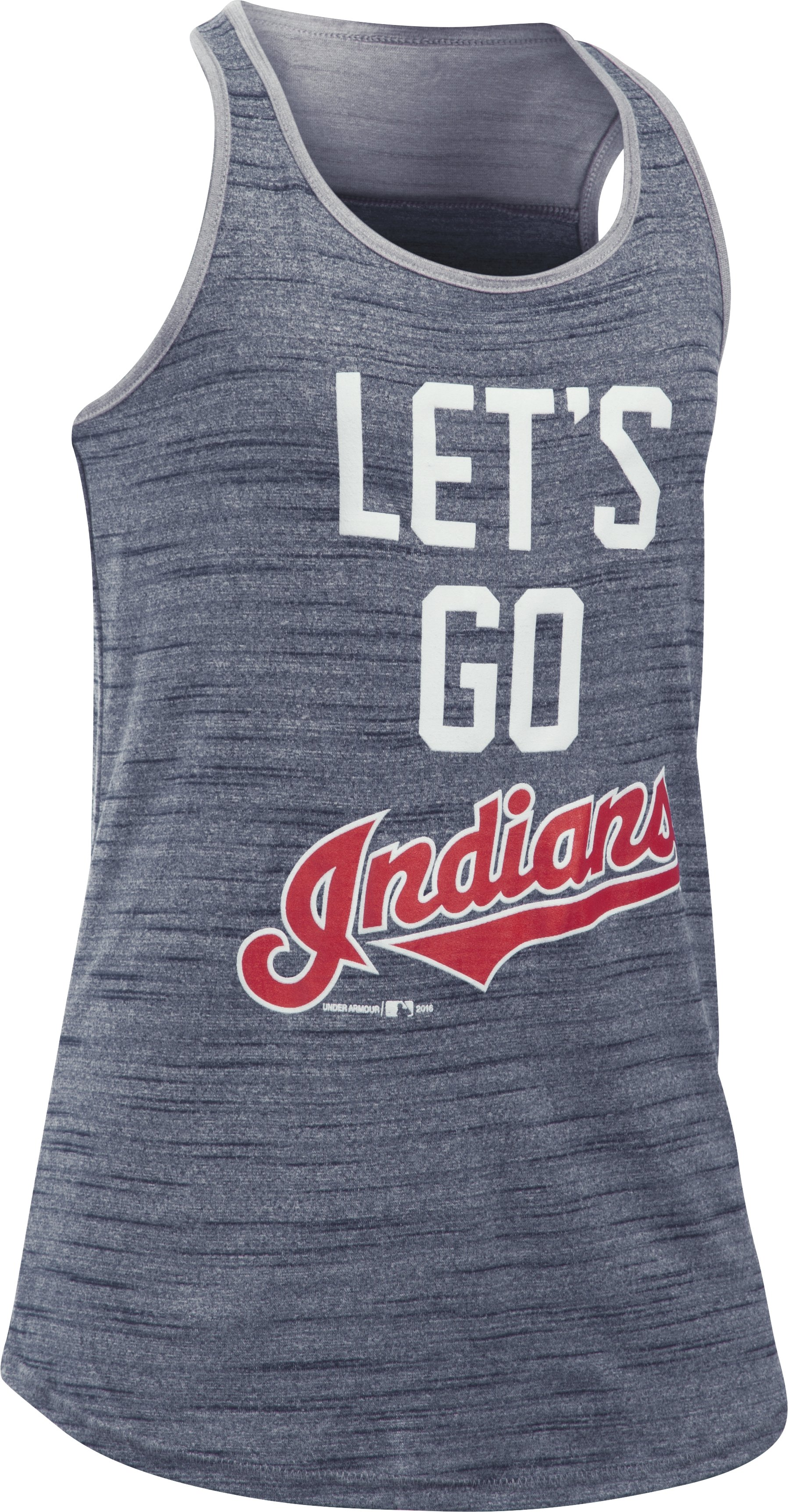 Girls' Cleveland Indians UA Tech™ Tank, Midnight Navy