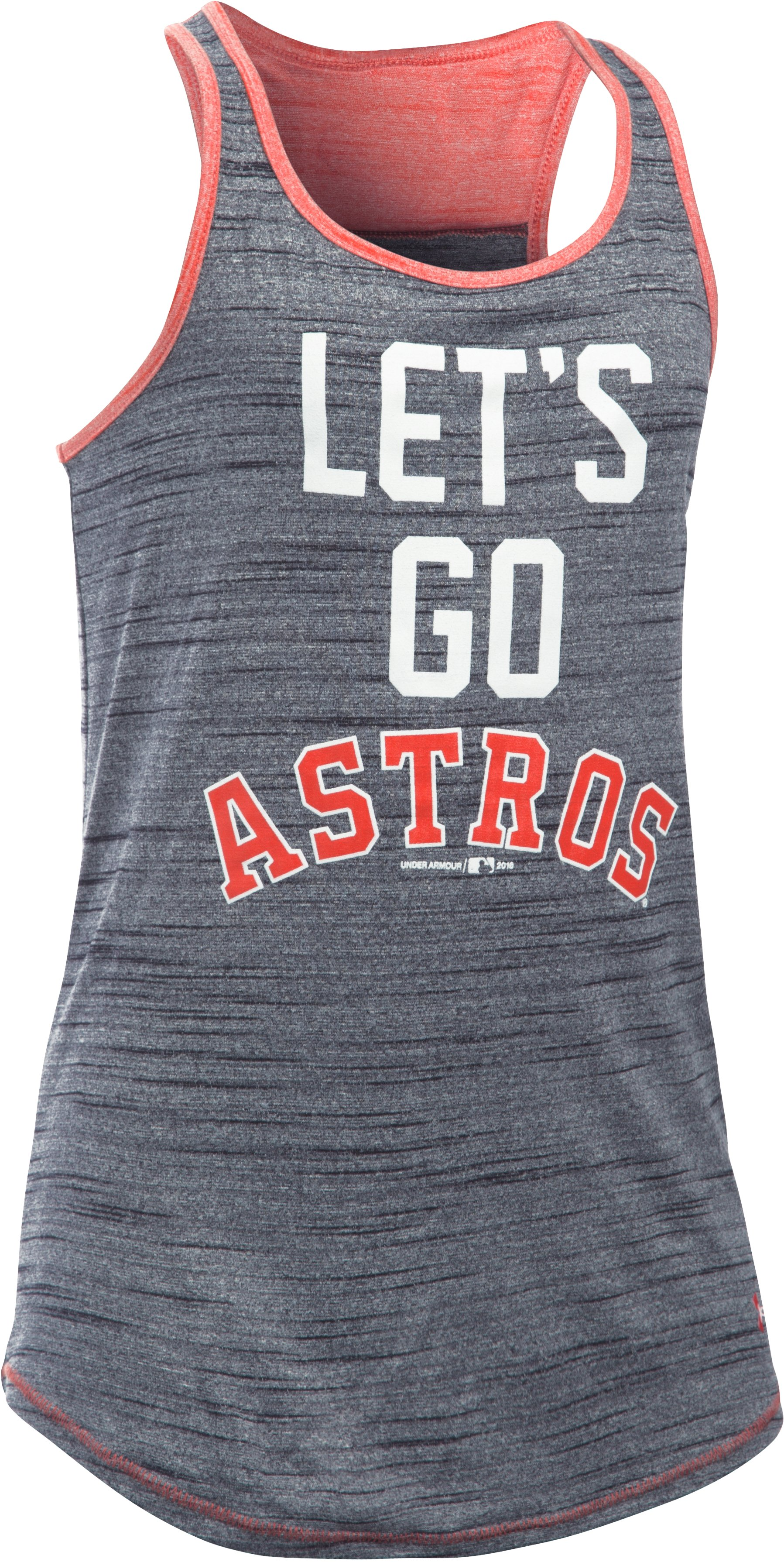 Girls' Houston Astros UA Tech™ Tank, Black , zoomed image