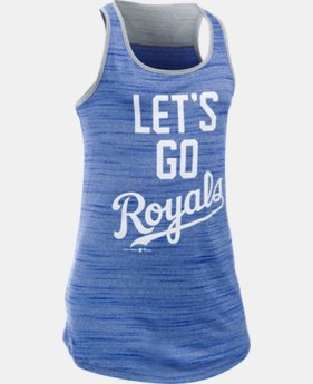 Girls' Kansas City Royals UA Tech™ Tank LIMITED TIME: FREE SHIPPING 1 Color $29.99