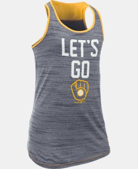 Girls' Milwaukee Brewers UA Tech™ Tank
