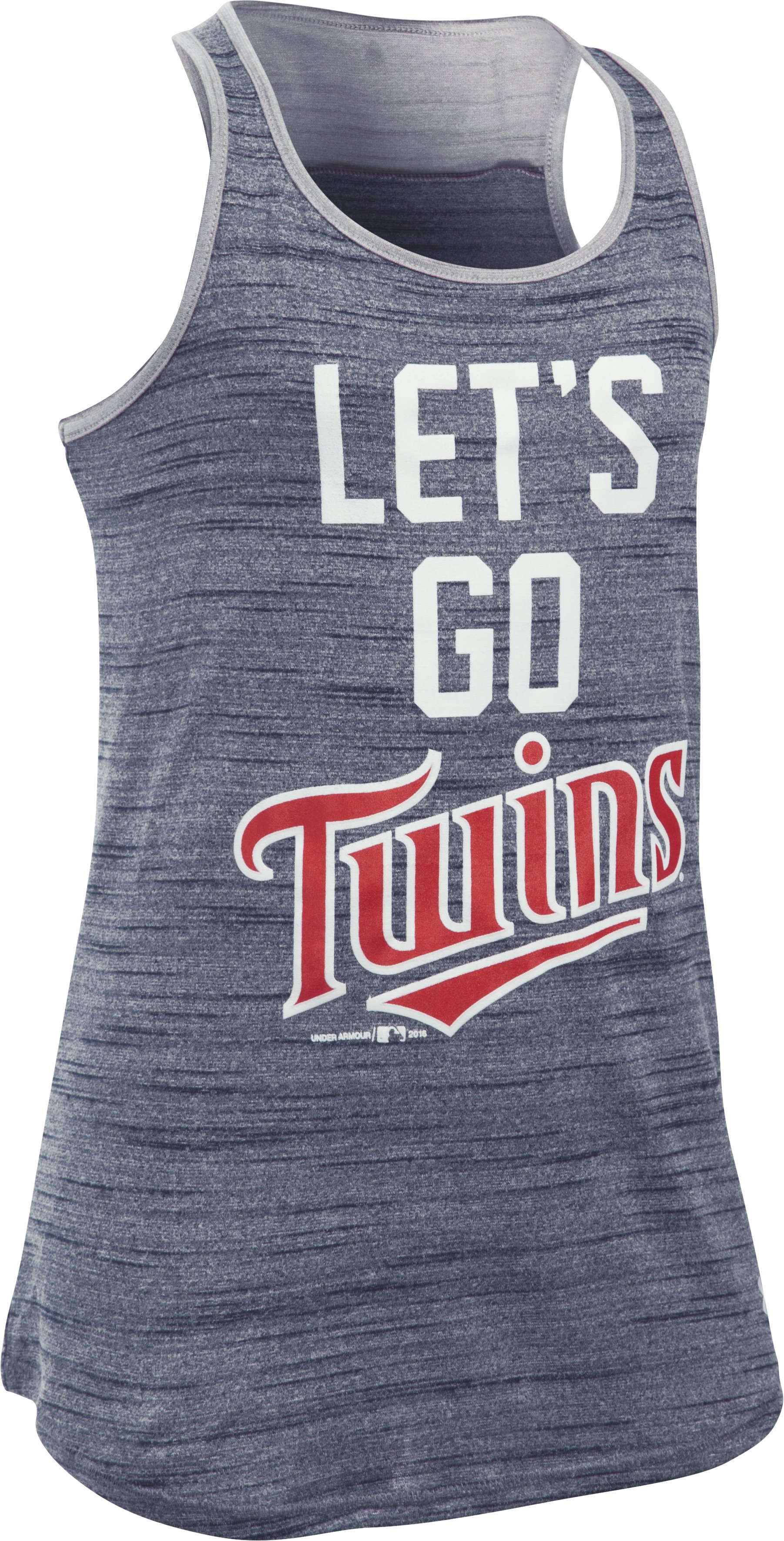 Girls' Minnesota Twins UA Tech™ Tank, Midnight Navy, undefined