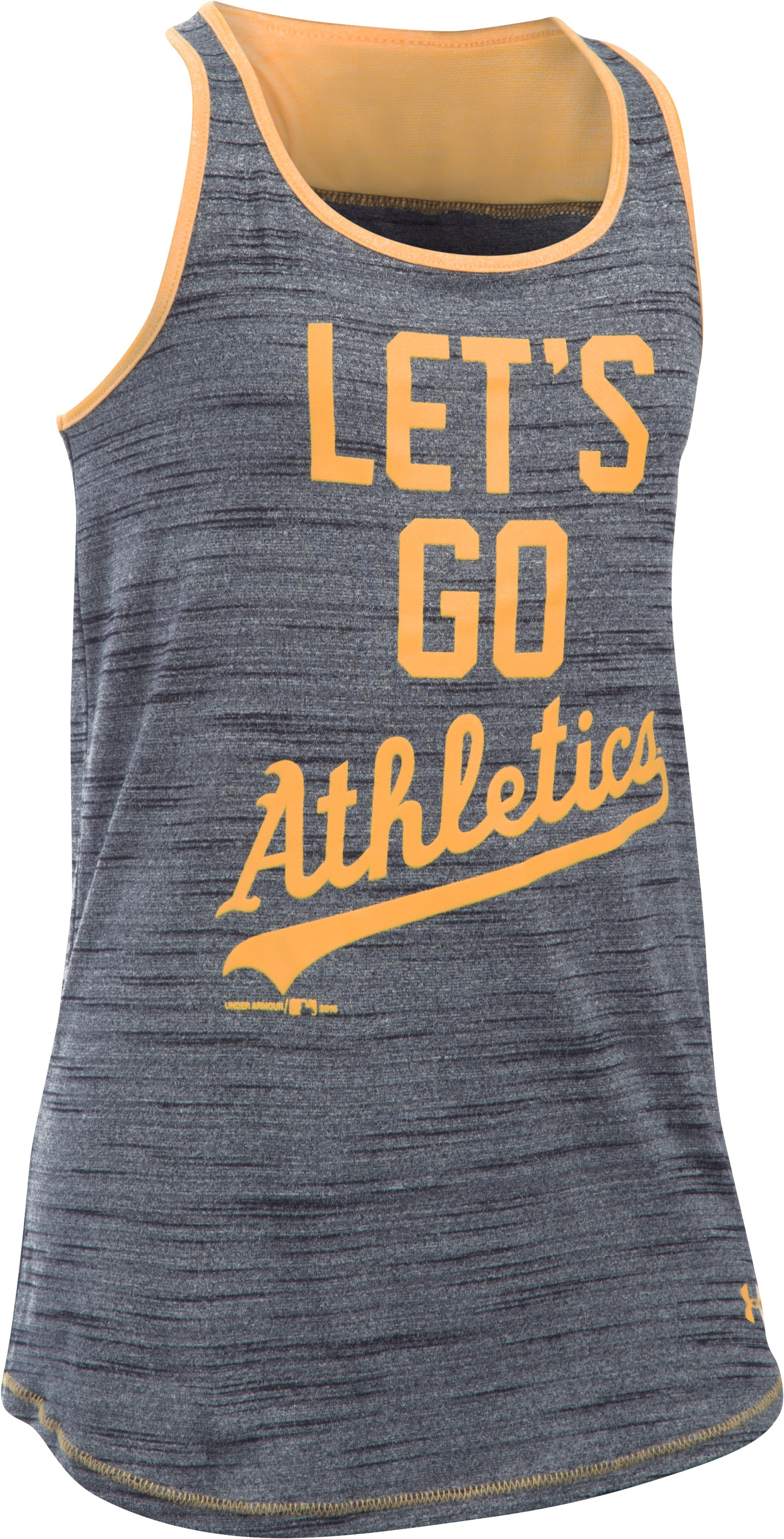 Girls' Oakland Athletics UA Tech™ Tank, Black , undefined