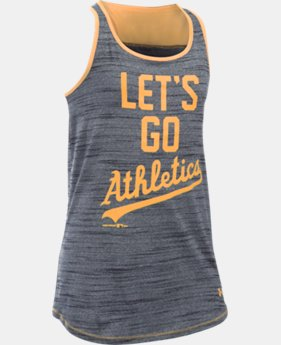 New to Outlet Girls' Oakland Athletics UA Tech™ Tank  1 Color $17.99