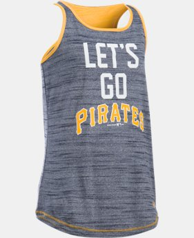 Girls' Pittsburgh Pirates UA Tech™ Tank LIMITED TIME: FREE U.S. SHIPPING 1  Color Available $29.99