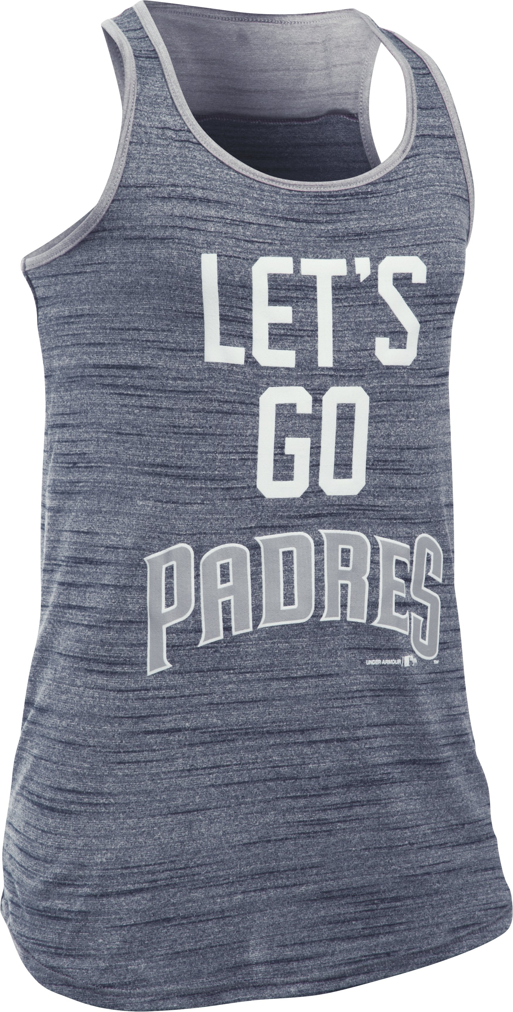 Girls' San Diego Padres UA Tech™ Tank, Midnight Navy,