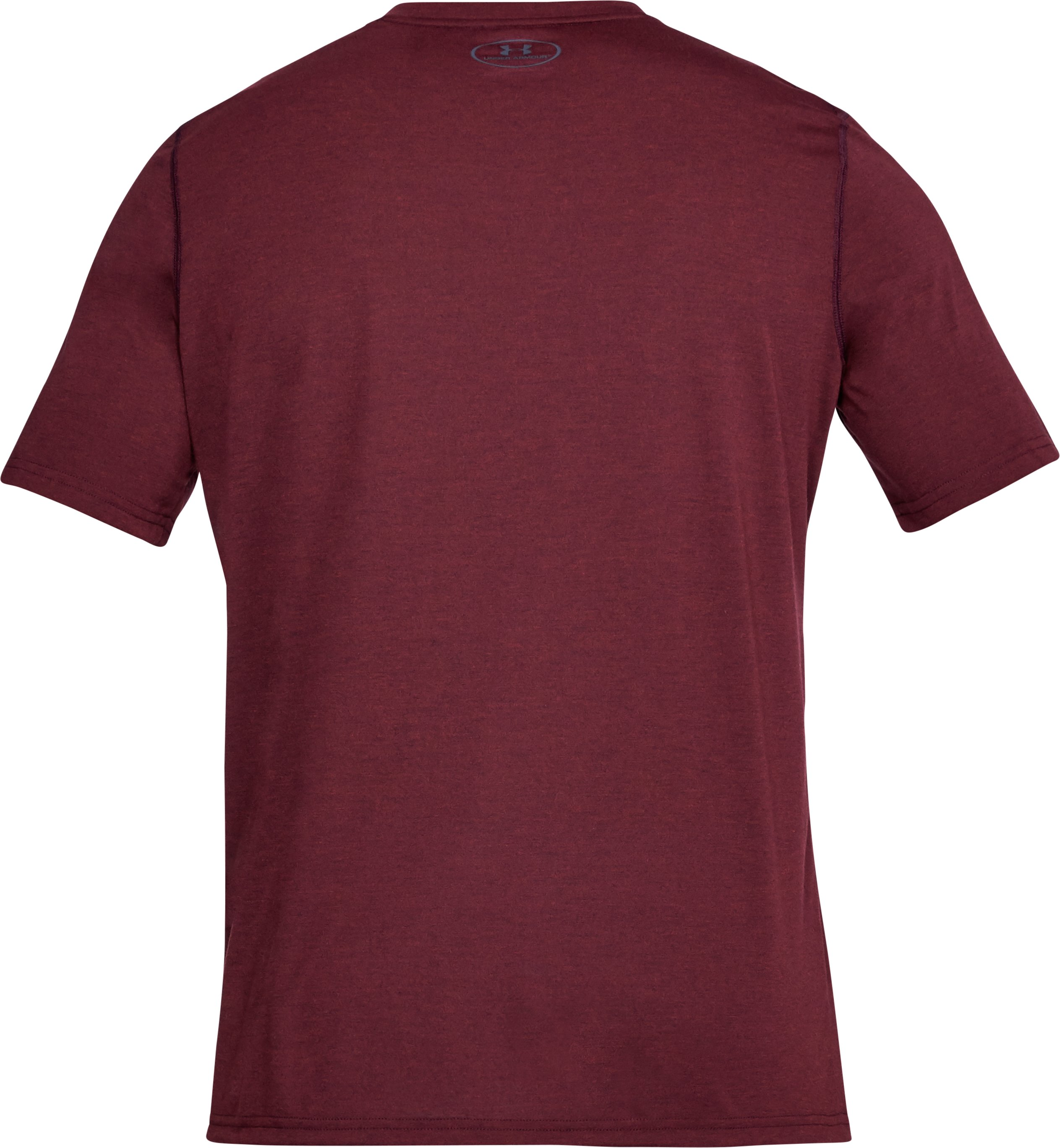 Men's UA Threadborne V-Neck T-Shirt, RAISIN RED, undefined
