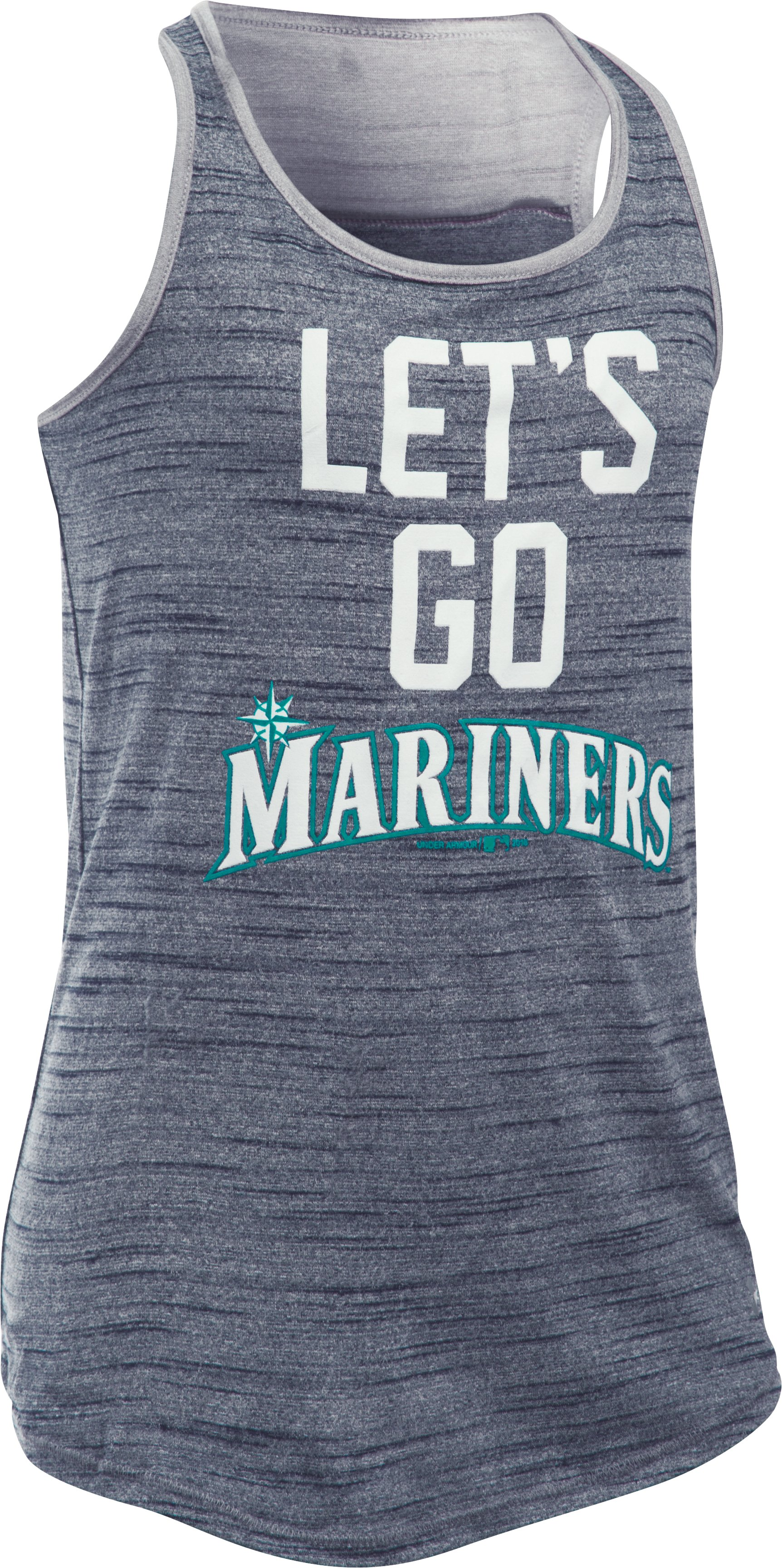 Girls' Seattle Mariners UA Tech™ Tank, Midnight Navy,