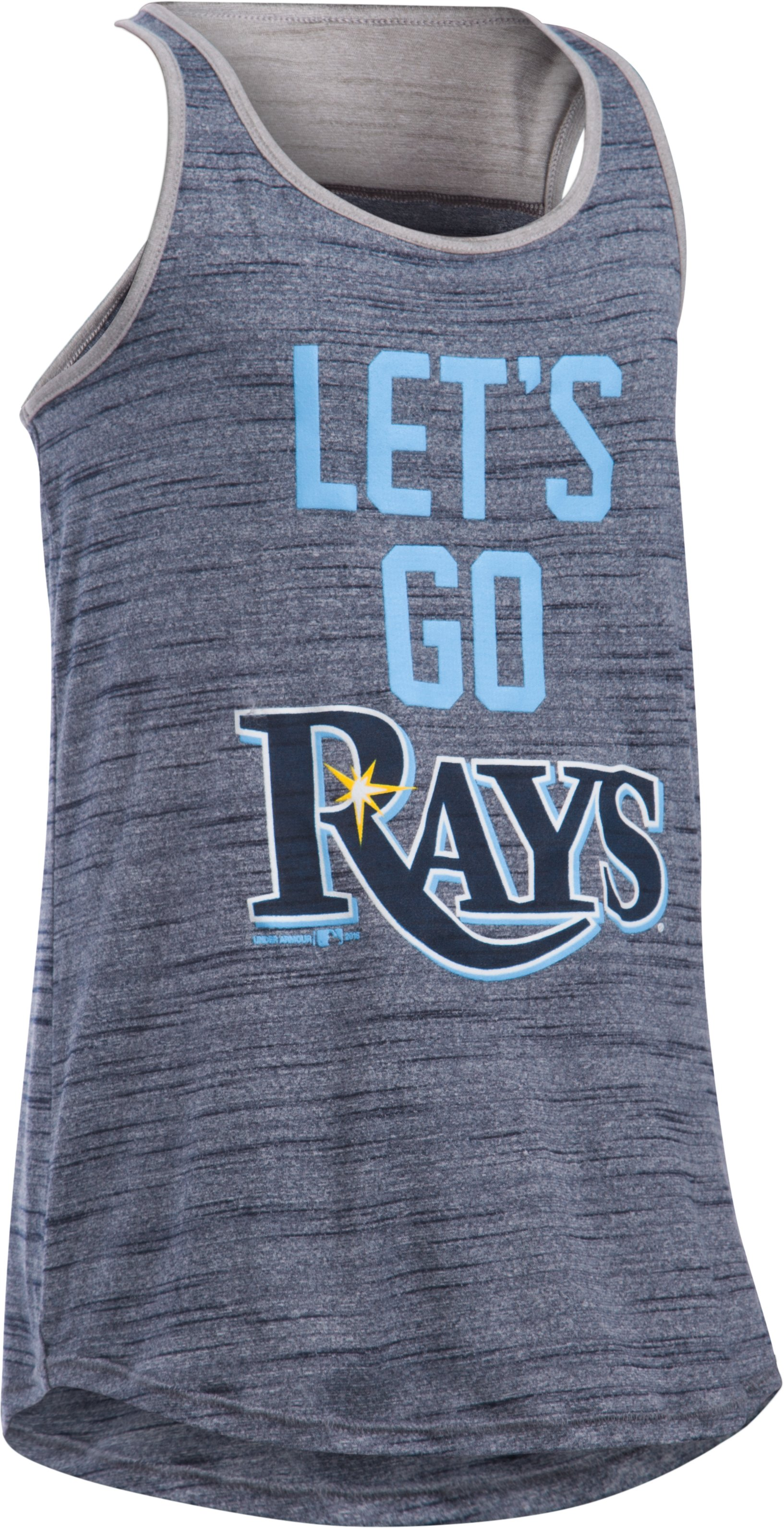Girls' Tampa Bay Rays UA Tech™ Tank, Midnight Navy, zoomed image