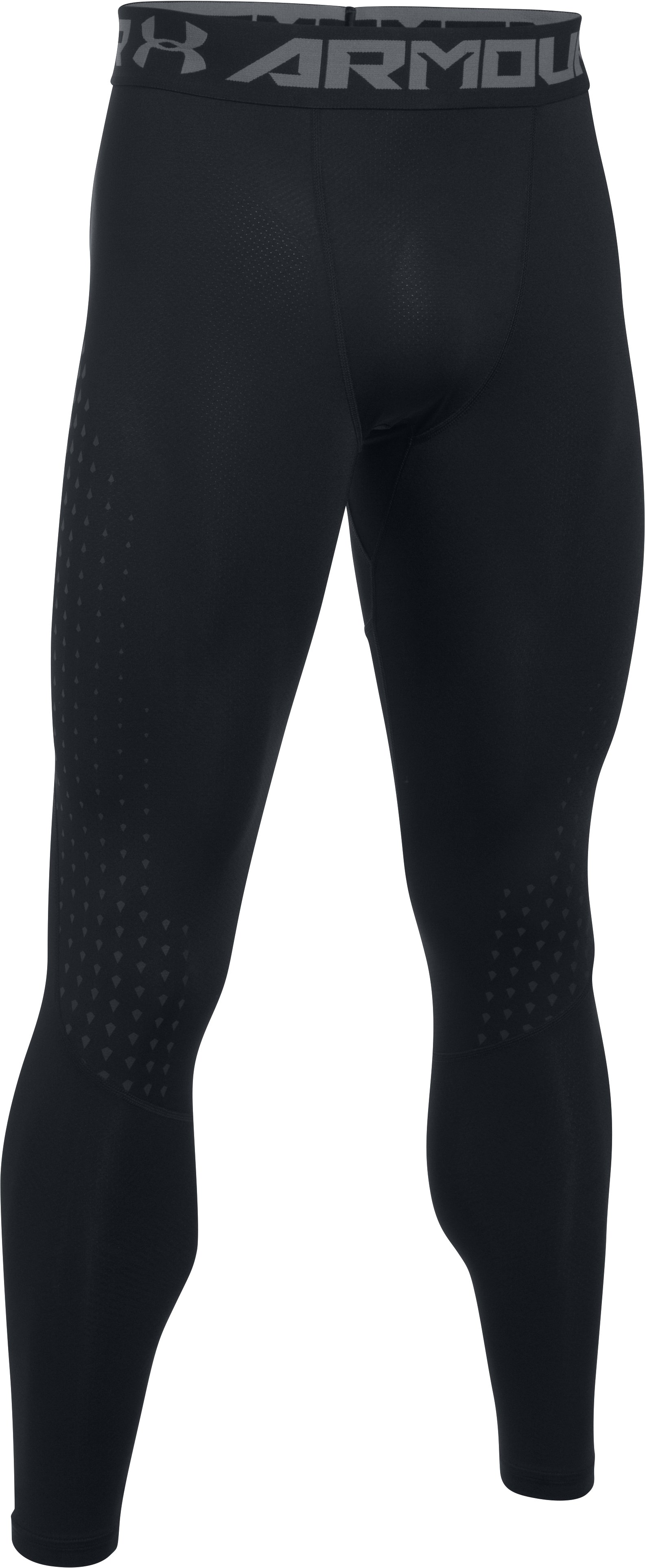 Men's HeatGear® CoolSwitch Armour Leggings, Black , undefined