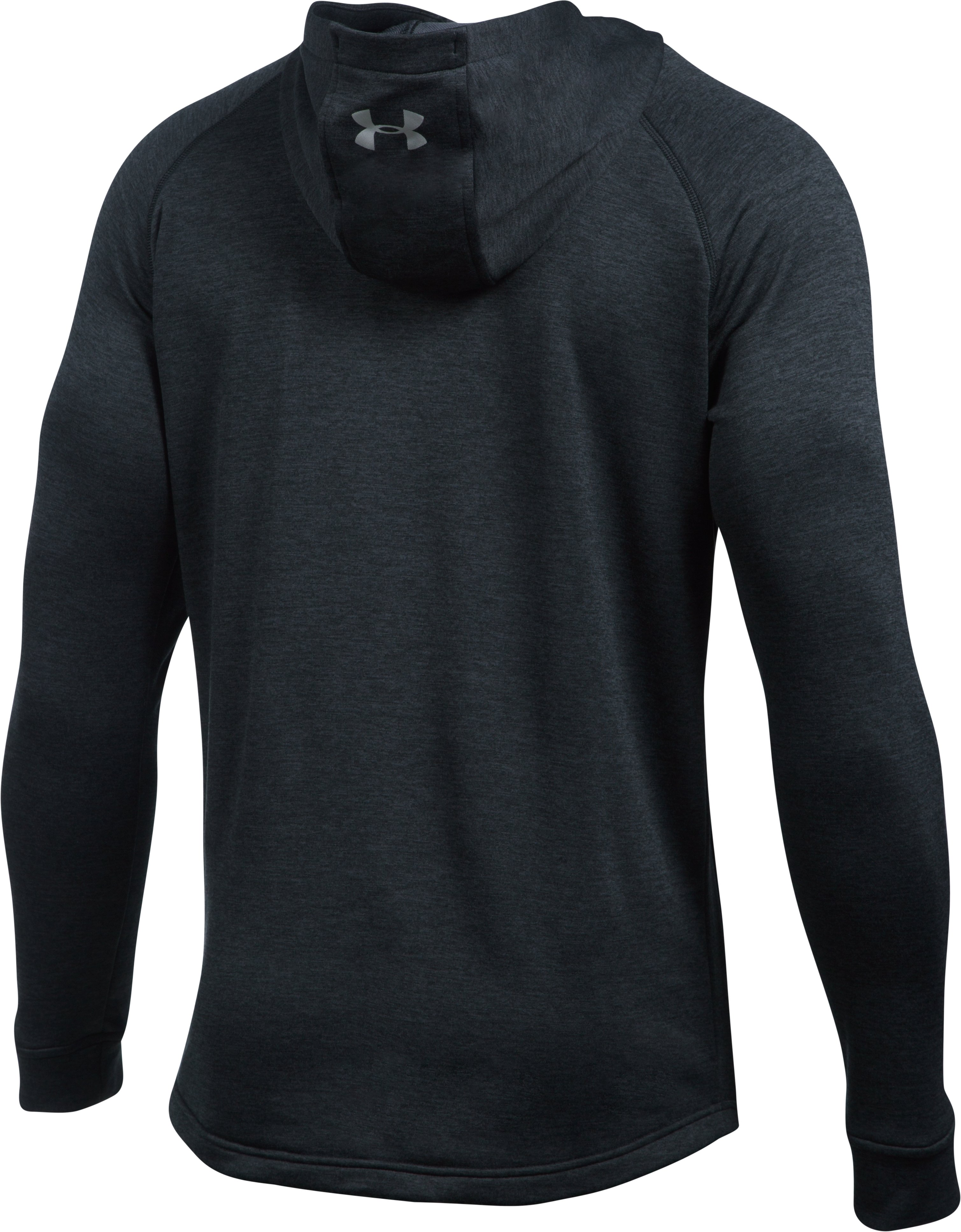 Men's UA Tech™ Terry Fitted Hoodie, BLACK MEDIUM HEATHER, undefined