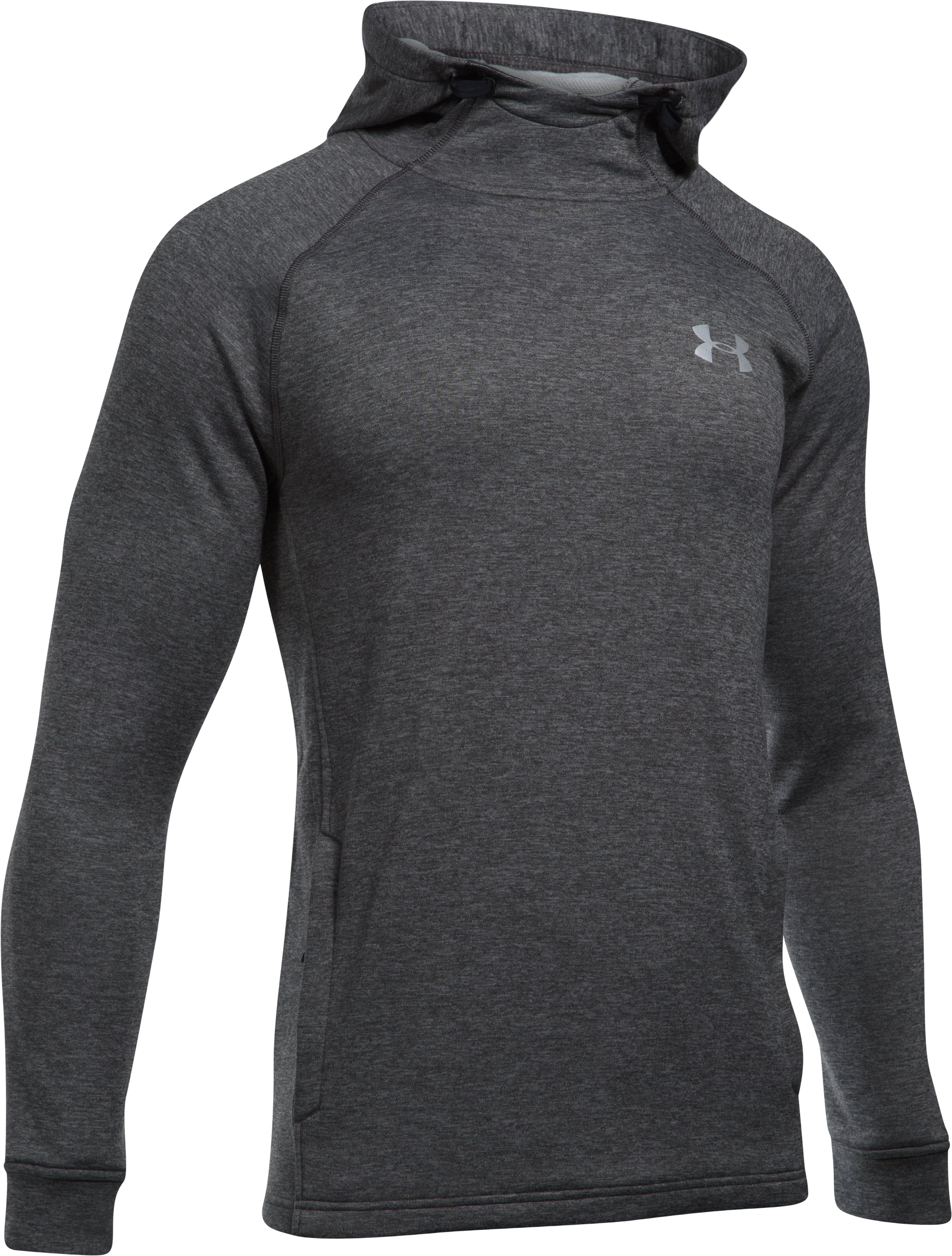 Men's UA Tech™ Terry Fitted Hoodie, Carbon Heather, undefined