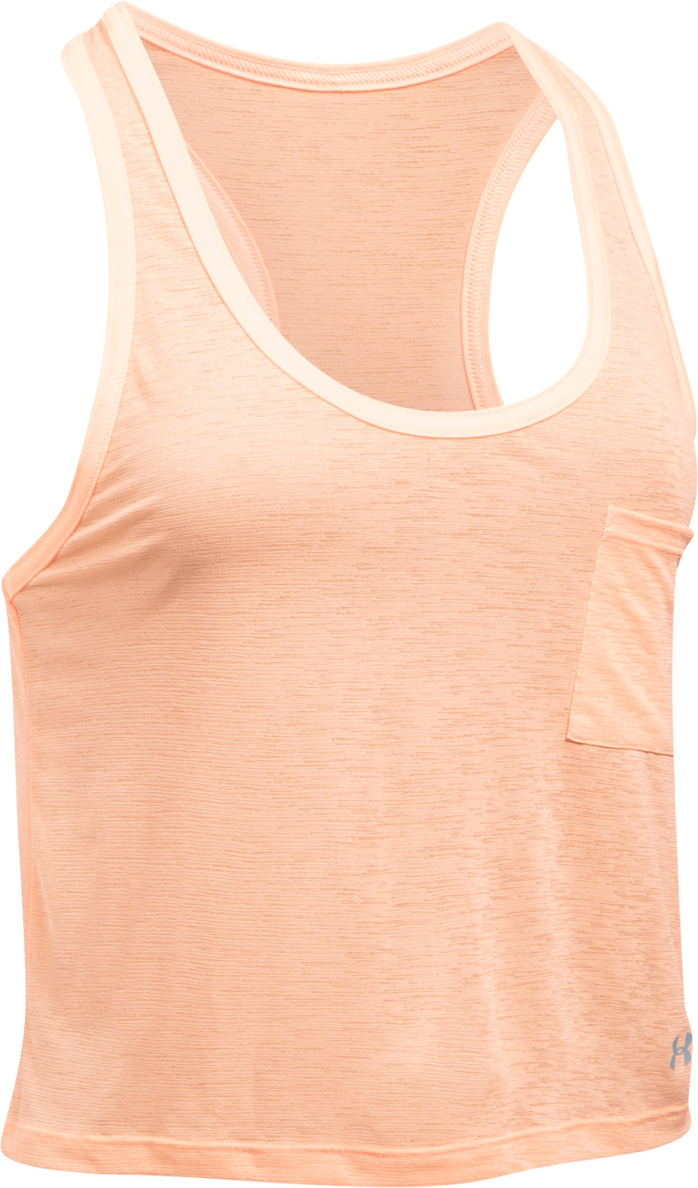 Women's UA Tech™ Slub Shorty Tank, PLAYFUL PEACH, undefined