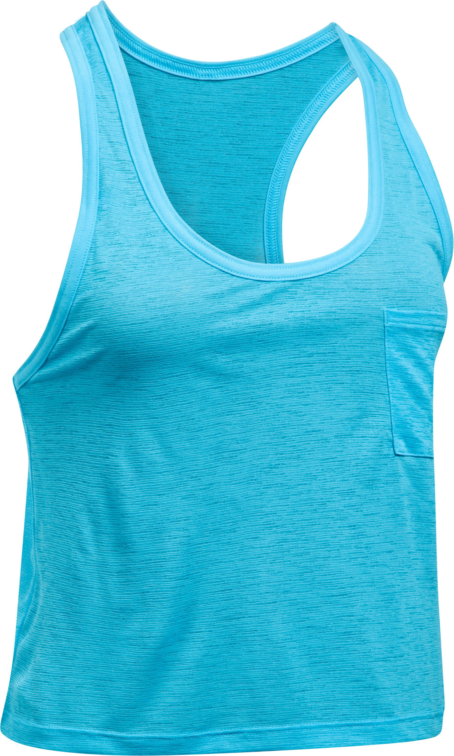 Women's UA Tech™ Slub Shorty Tank, ISLAND BLUES, undefined