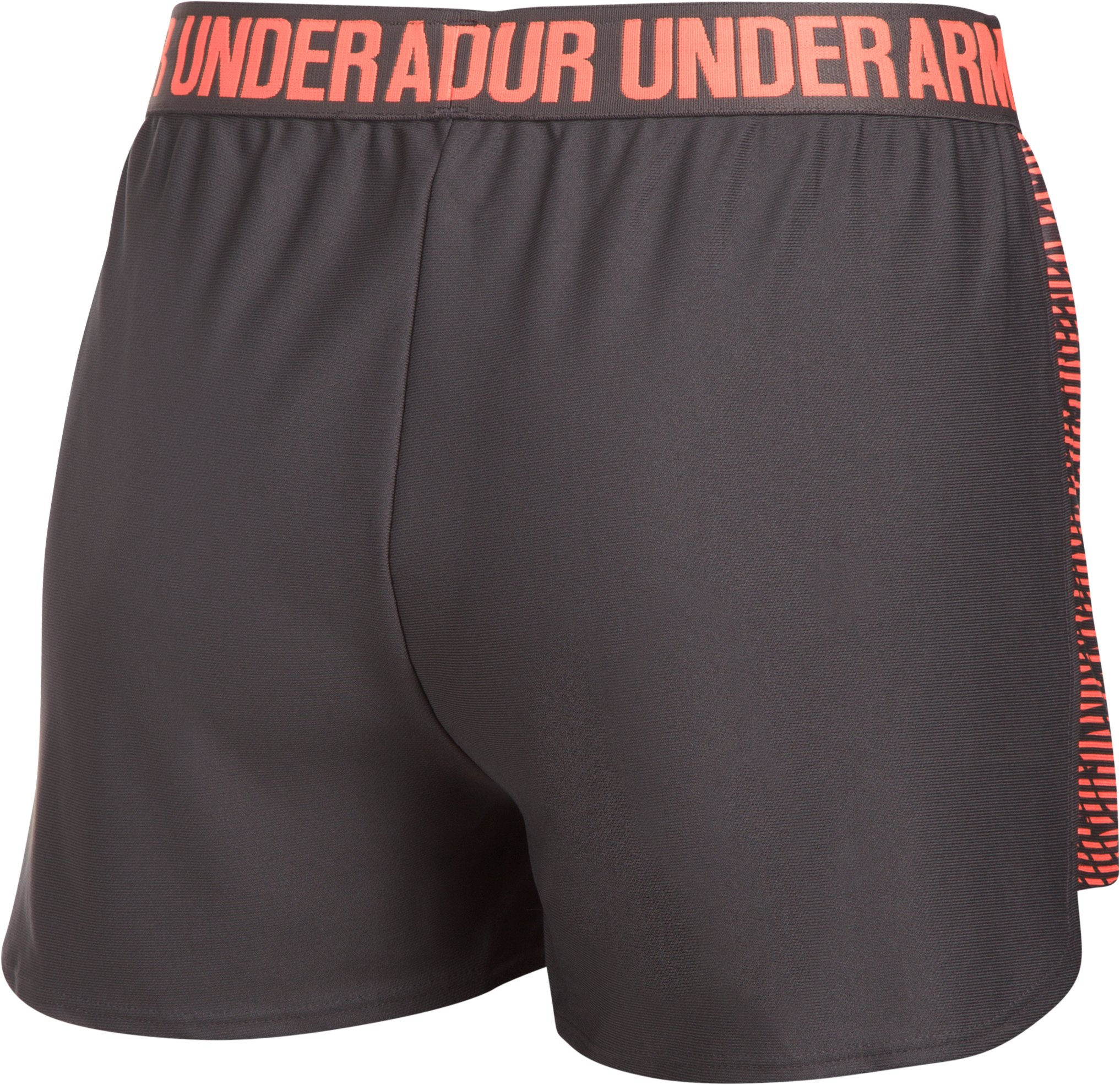 Women's UA Play Up Shorts 2.0 - Printed, Charcoal, undefined