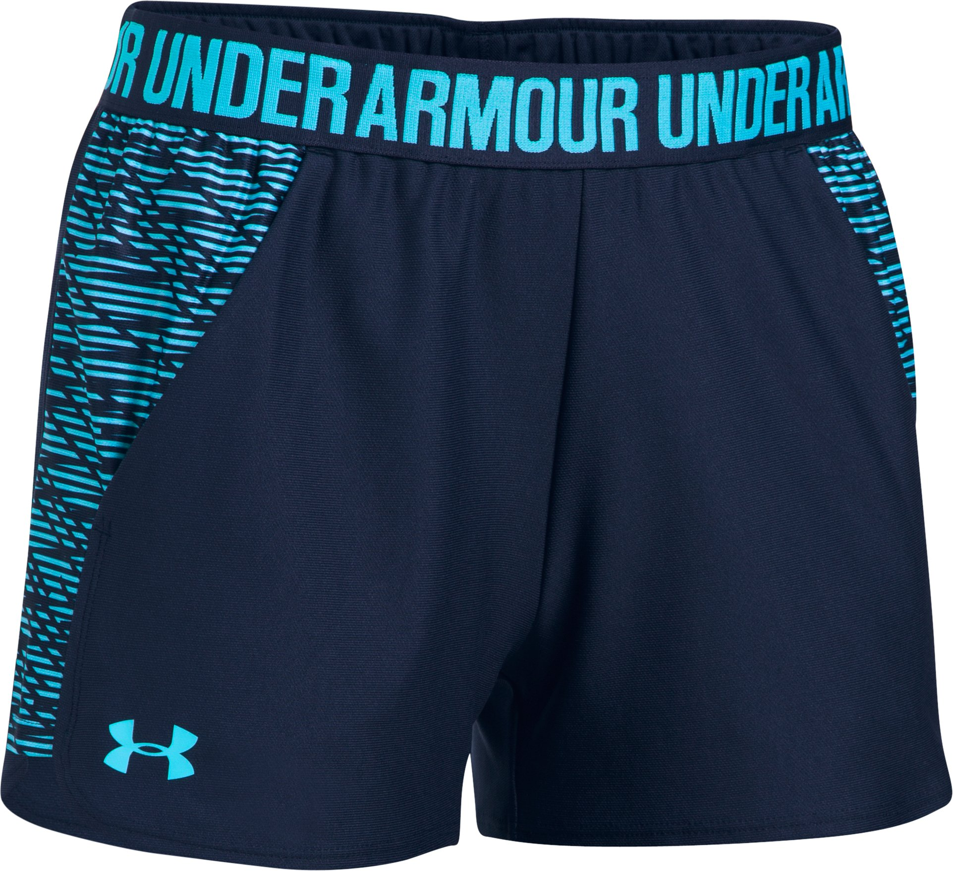 Women's UA Play Up Shorts 2.0 - Printed, Midnight Navy,