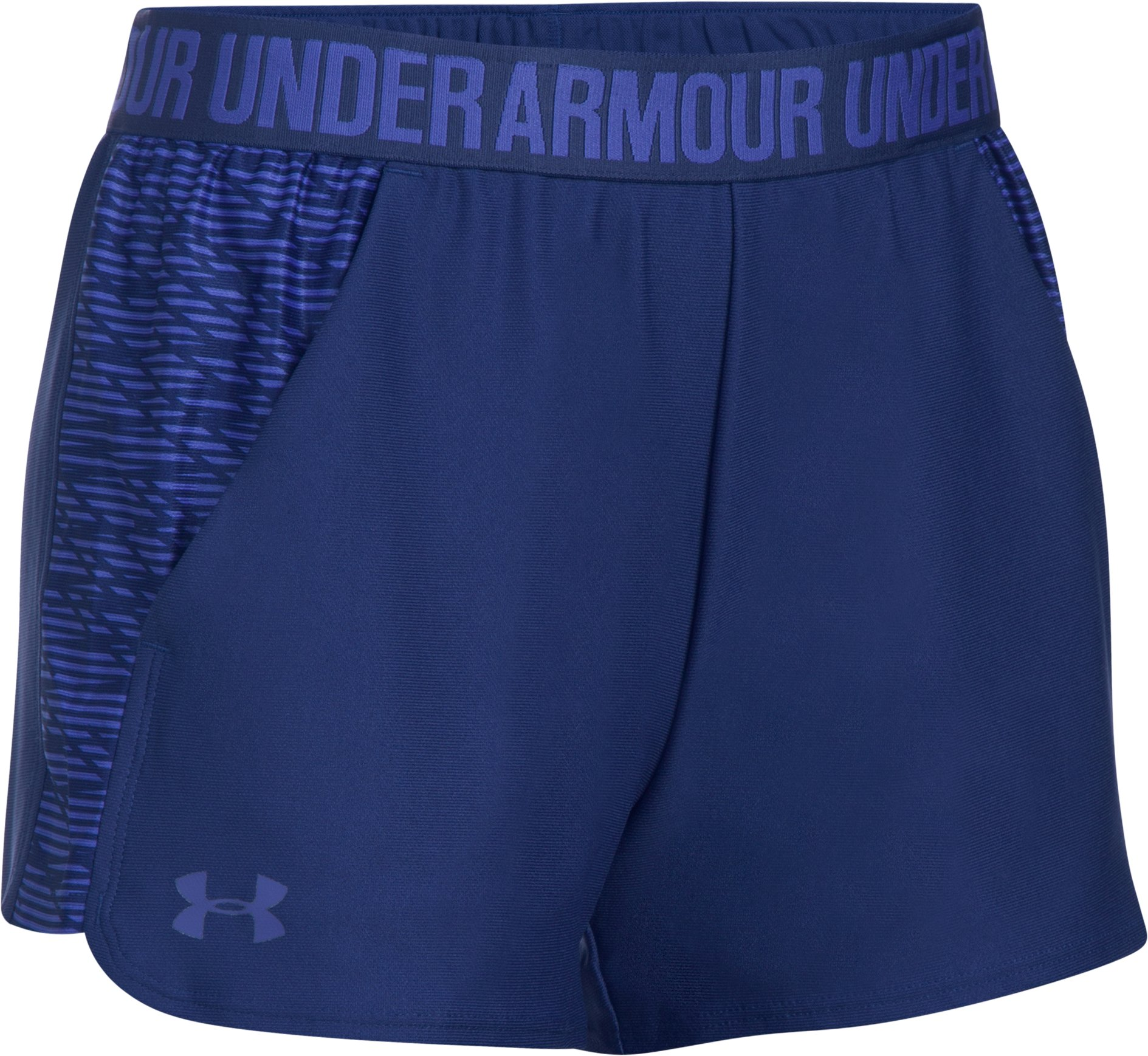 Women's UA Play Up Shorts 2.0 - Printed, EUROPA PURPLE,