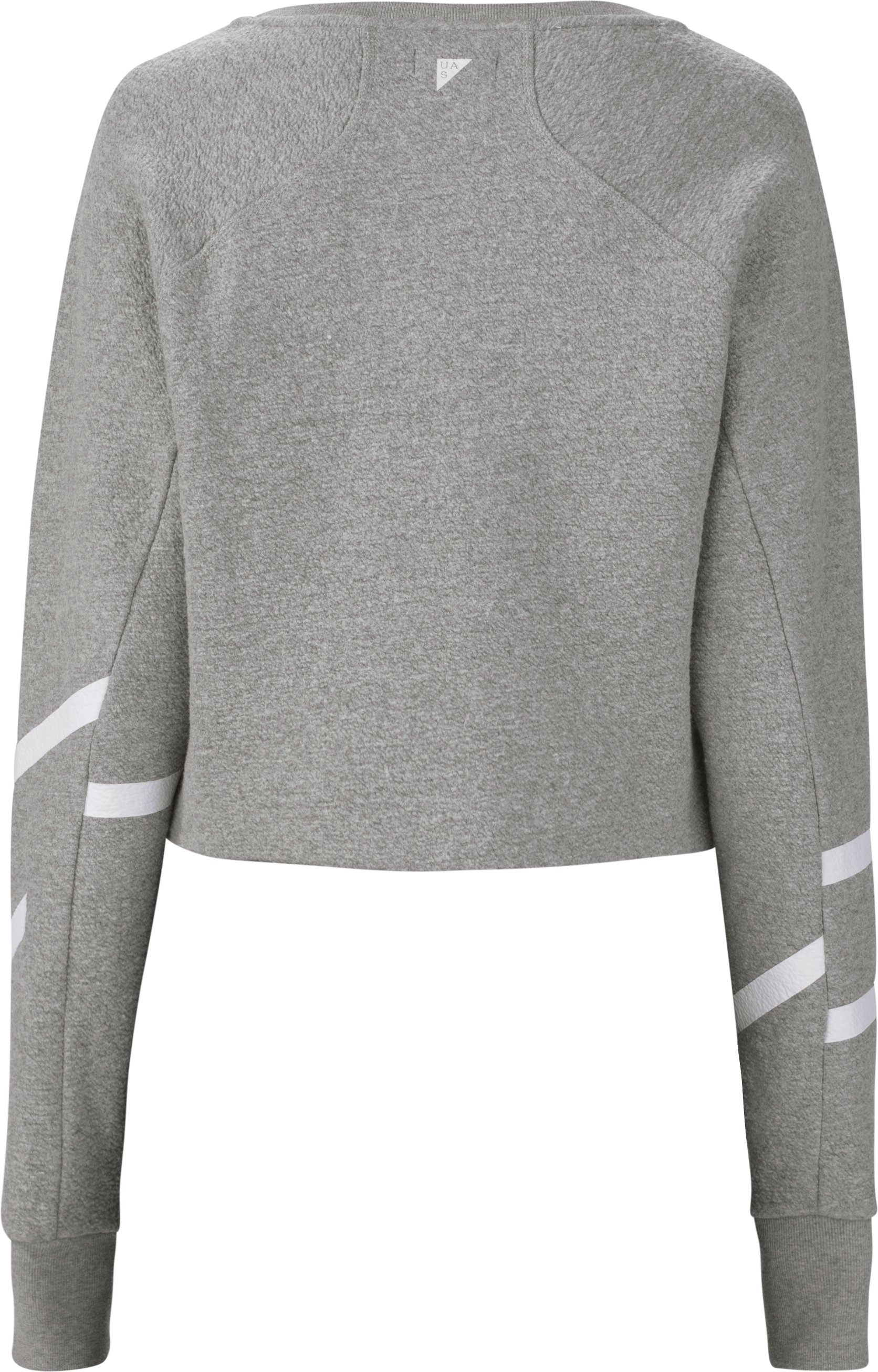 Women's UAS Hockey Textured Wool Fleece ¼ Zip Sweatshirt , LIGHT HEATHER GRAY