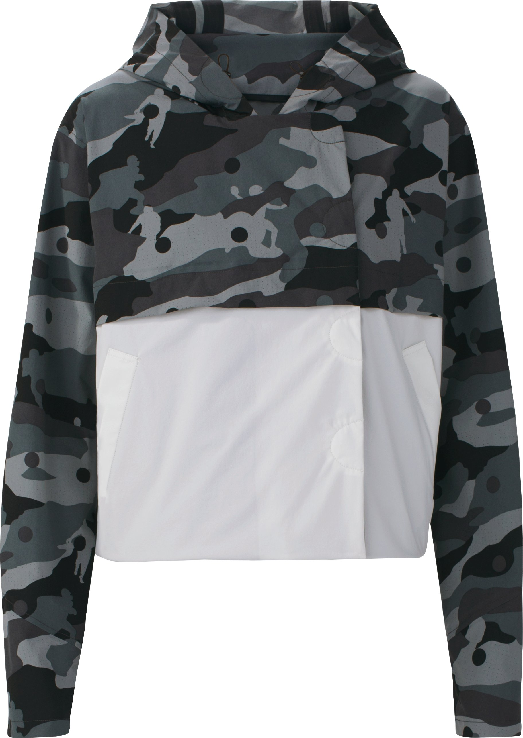 Women's UAS Elemental Camo Cropped Trench, Black ,