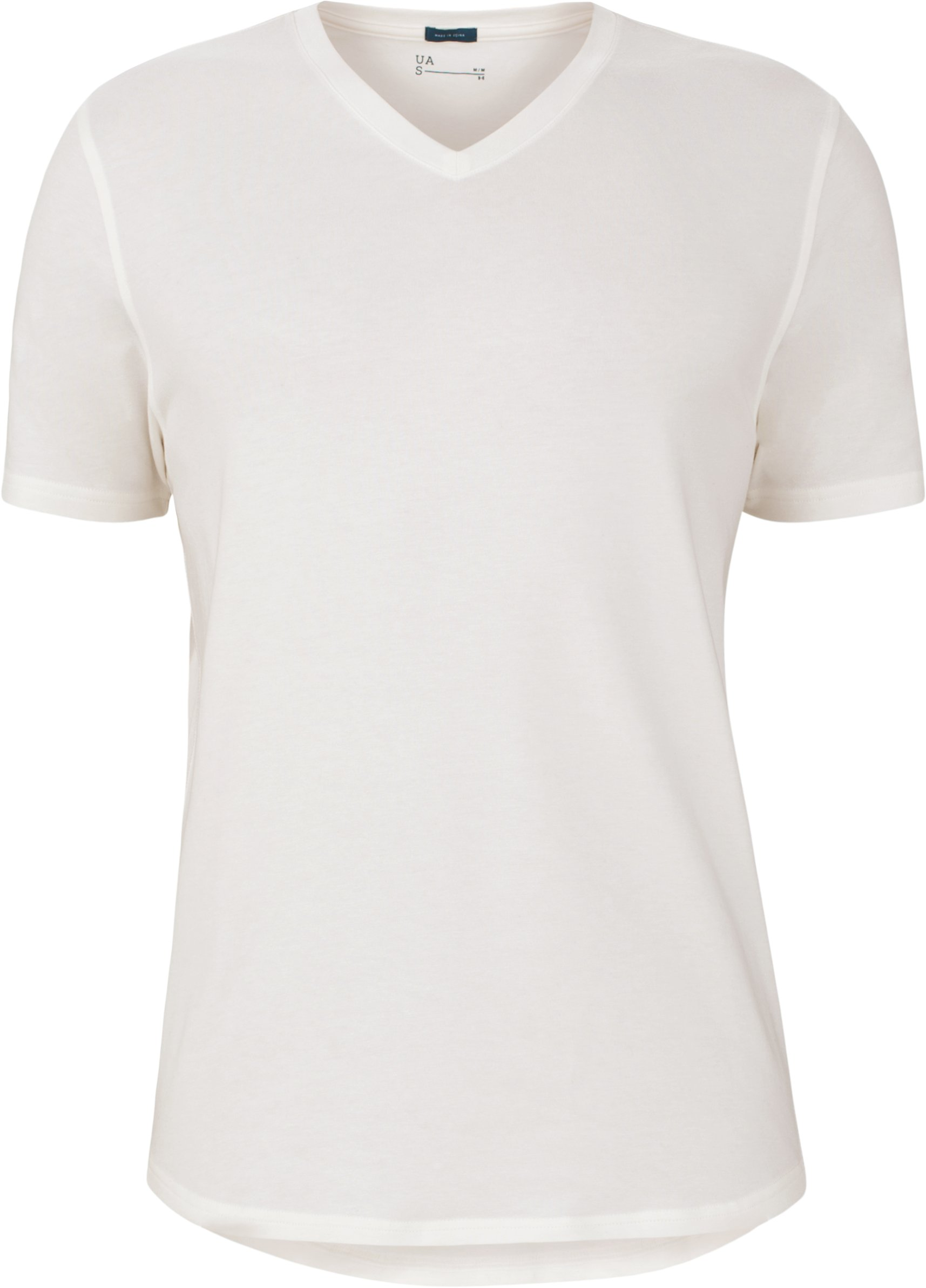 UAS Highline Cashmere-Cotton V-Neck, White,