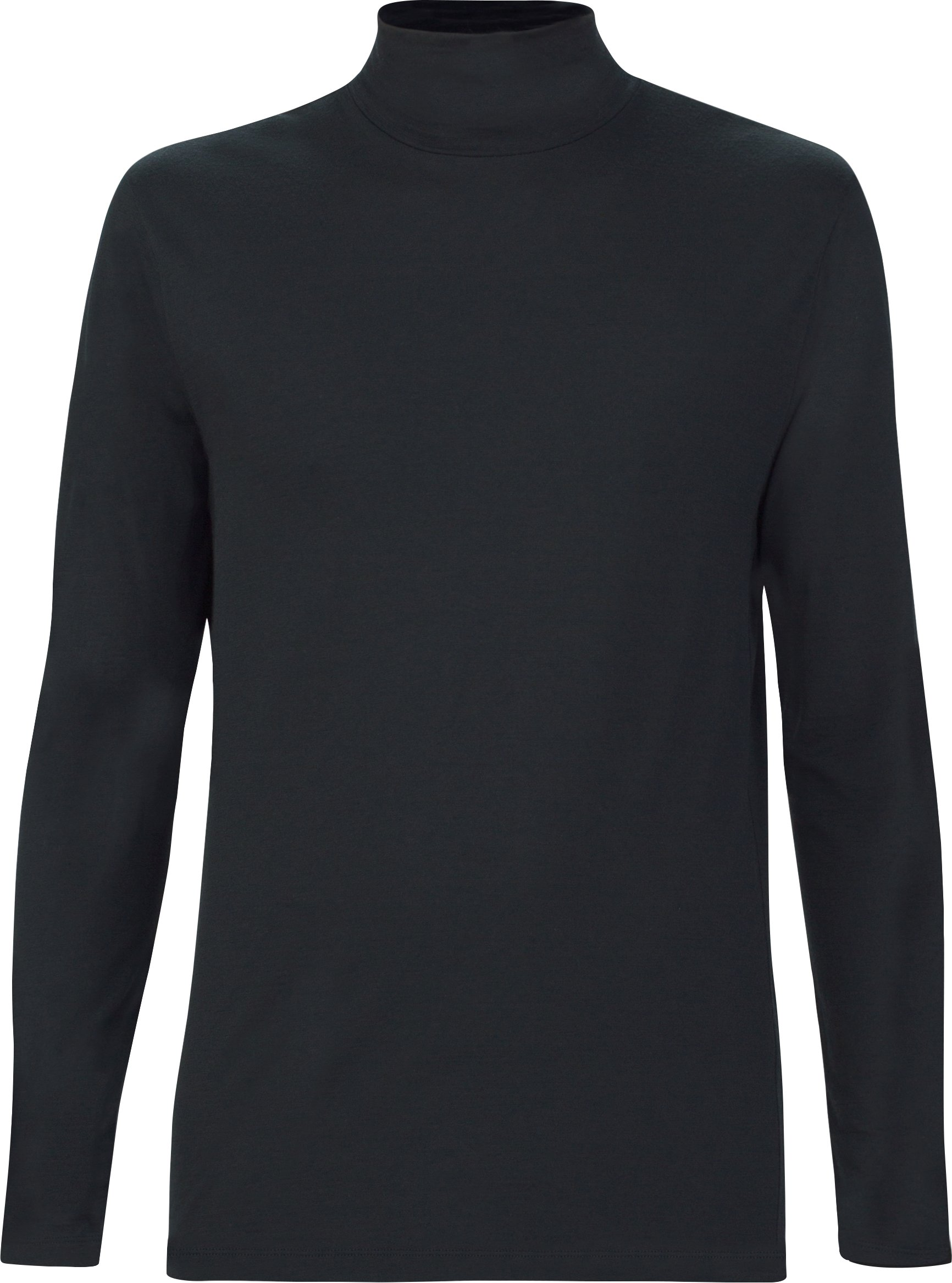 Men's UAS Prime Long Sleeve Mock, Black , undefined