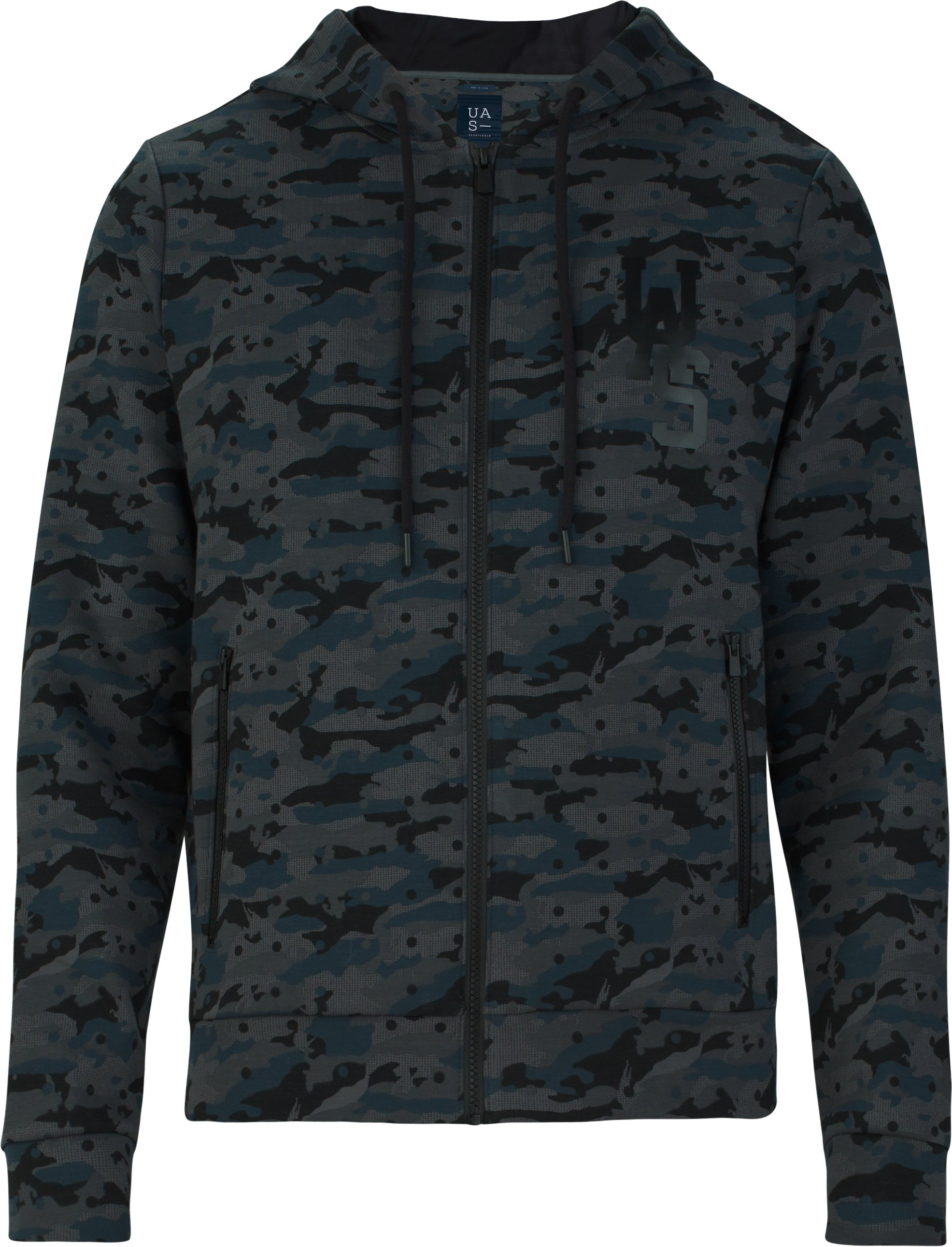 UAS Men's Tailgate Graphic Hoodie, Navy/Black Camo, undefined