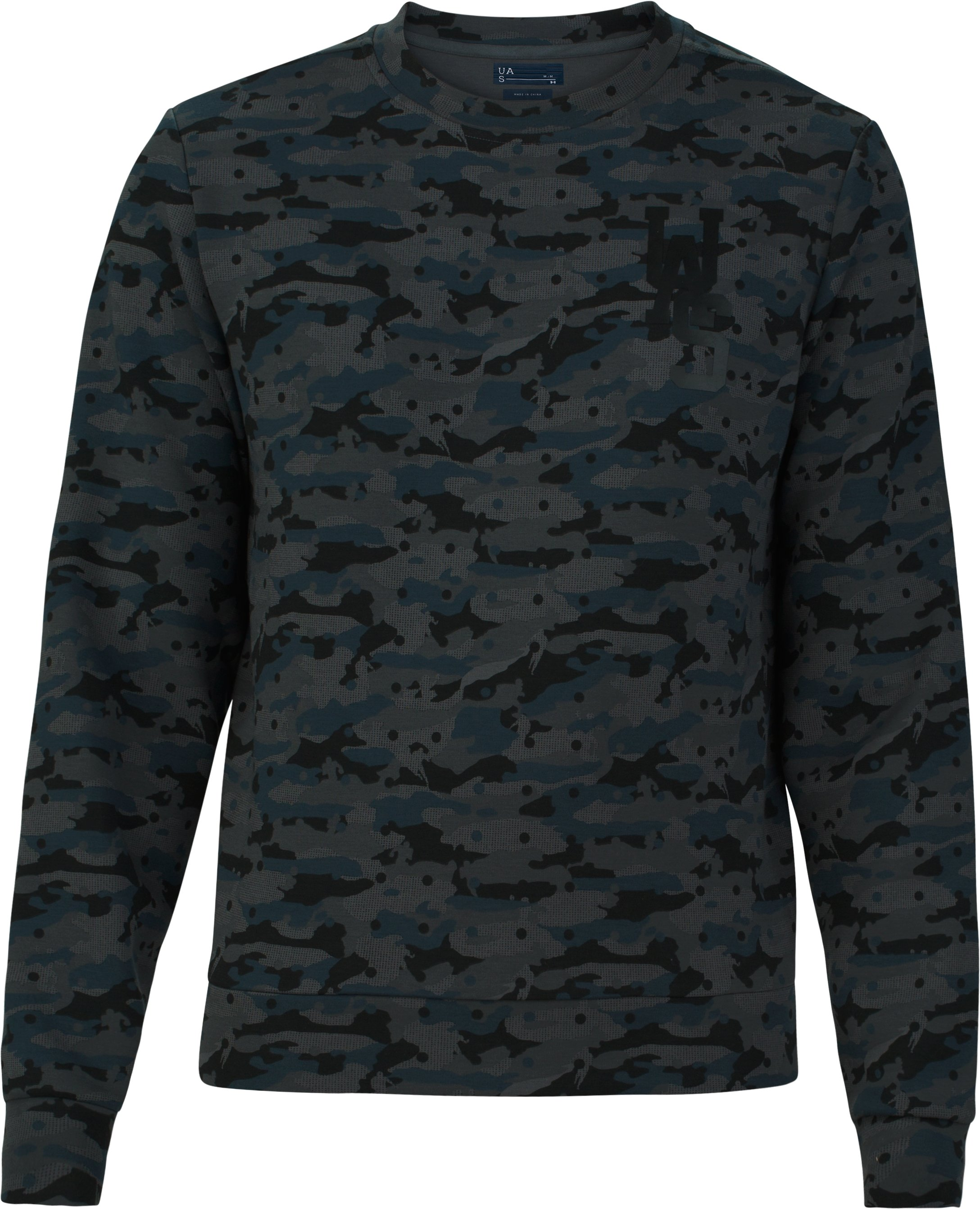 Men's UAS Tailgate Graphic Crew Sweatshirt, Navy,