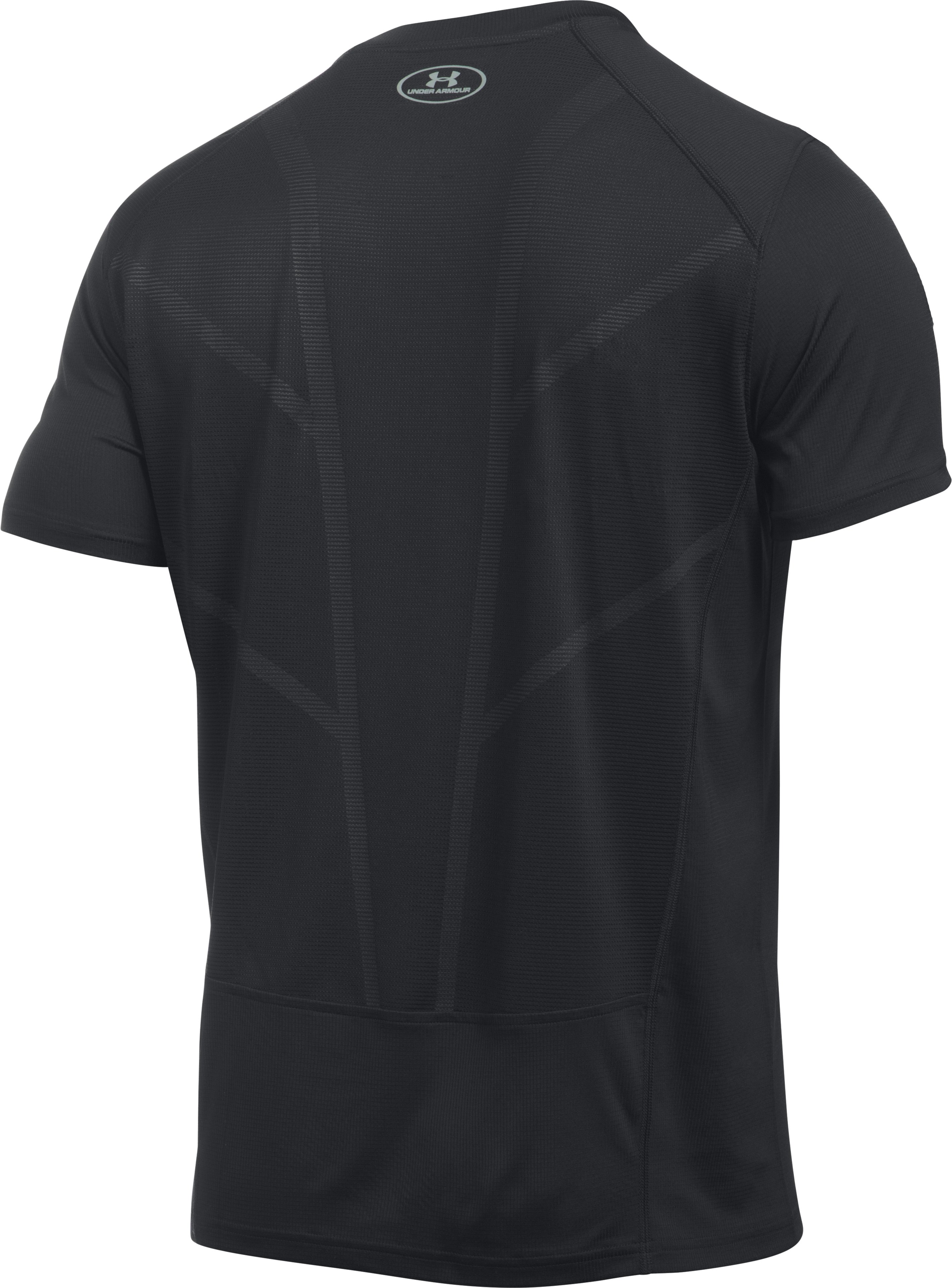 Men's UA CoolSwitch Run Short Sleeve, Black , undefined