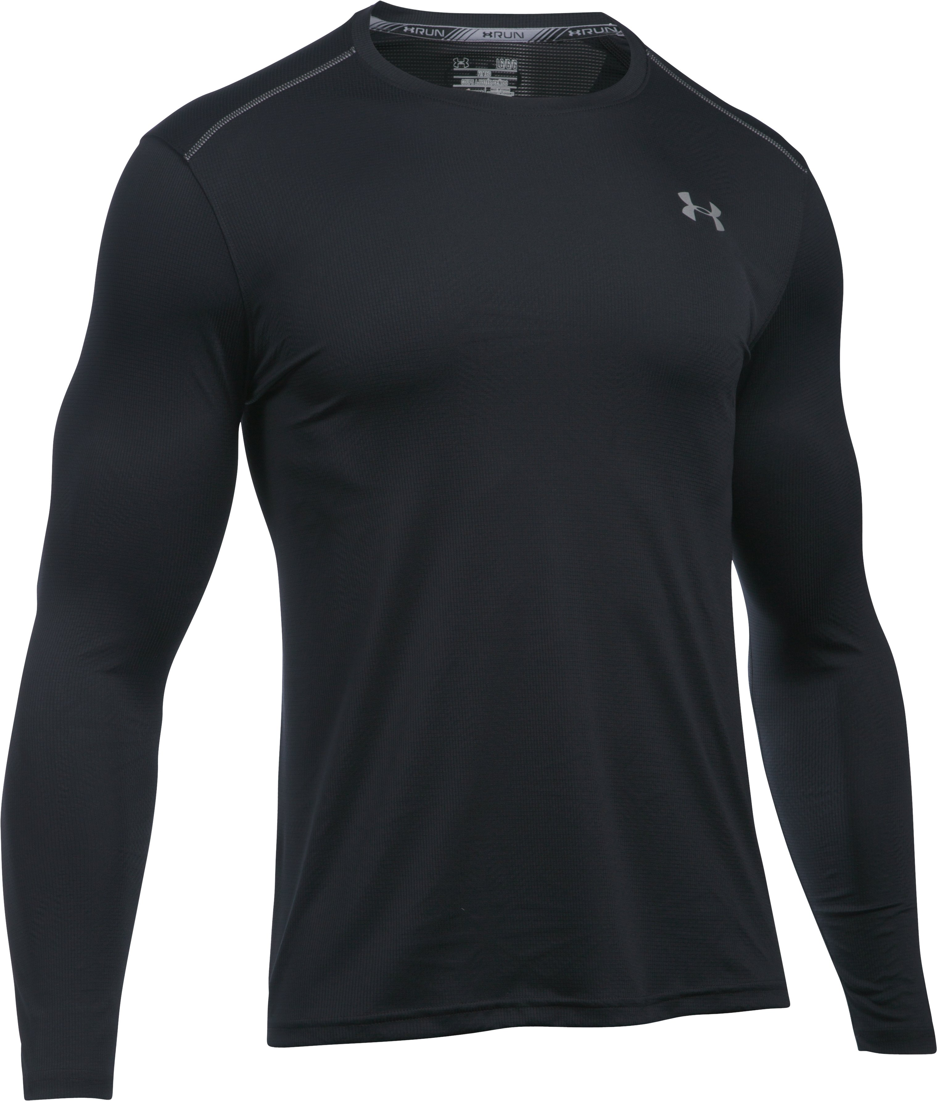 Men's UA CoolSwitch Run Long Sleeve, Black ,