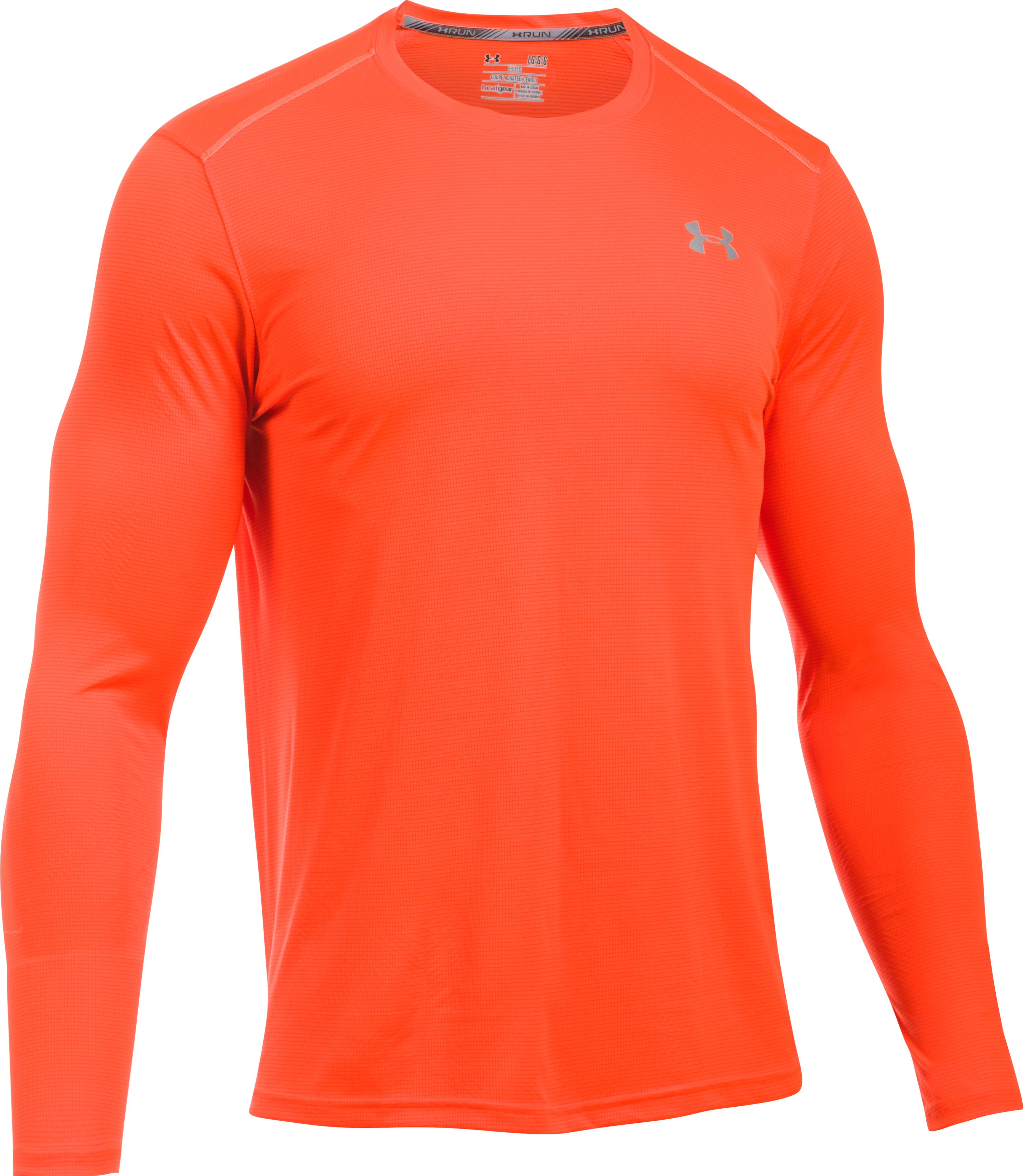 Men's UA CoolSwitch Run Long Sleeve, PHOENIX FIRE, undefined