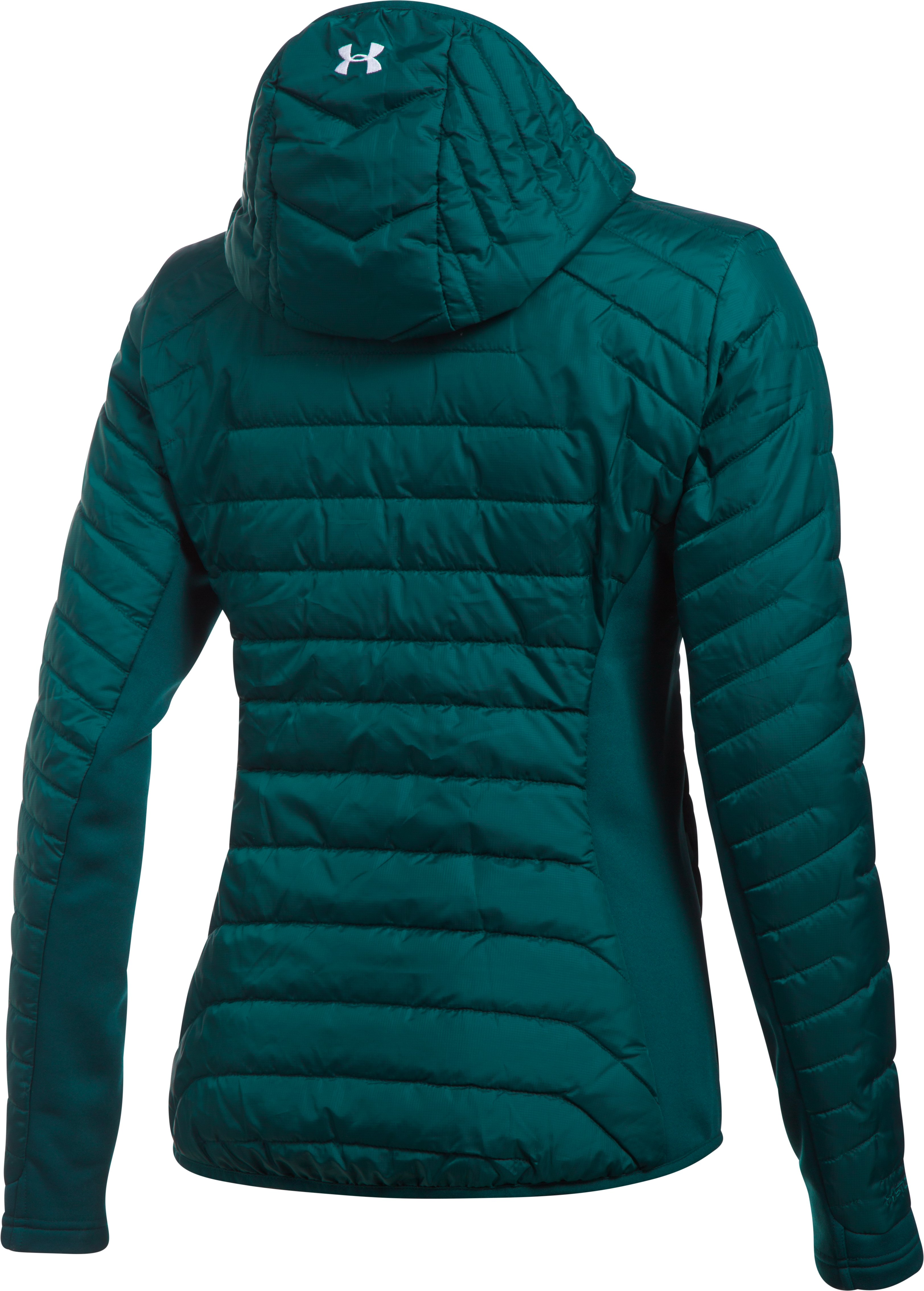Women's ColdGear® Reactor Hybrid Jacket, ARDEN GREEN,
