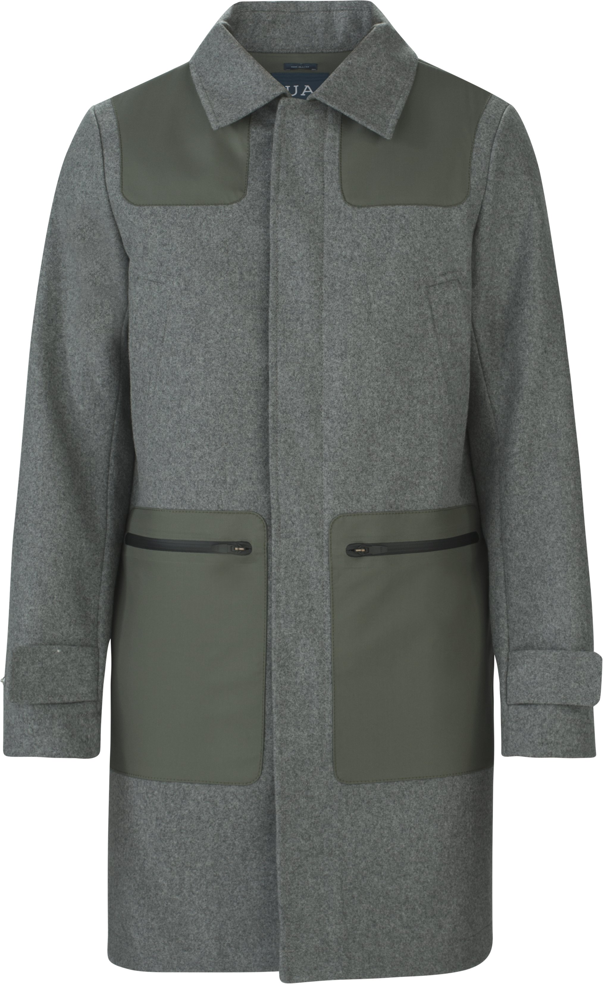 Fieldhouse Trench Wool, WARM HEATHER