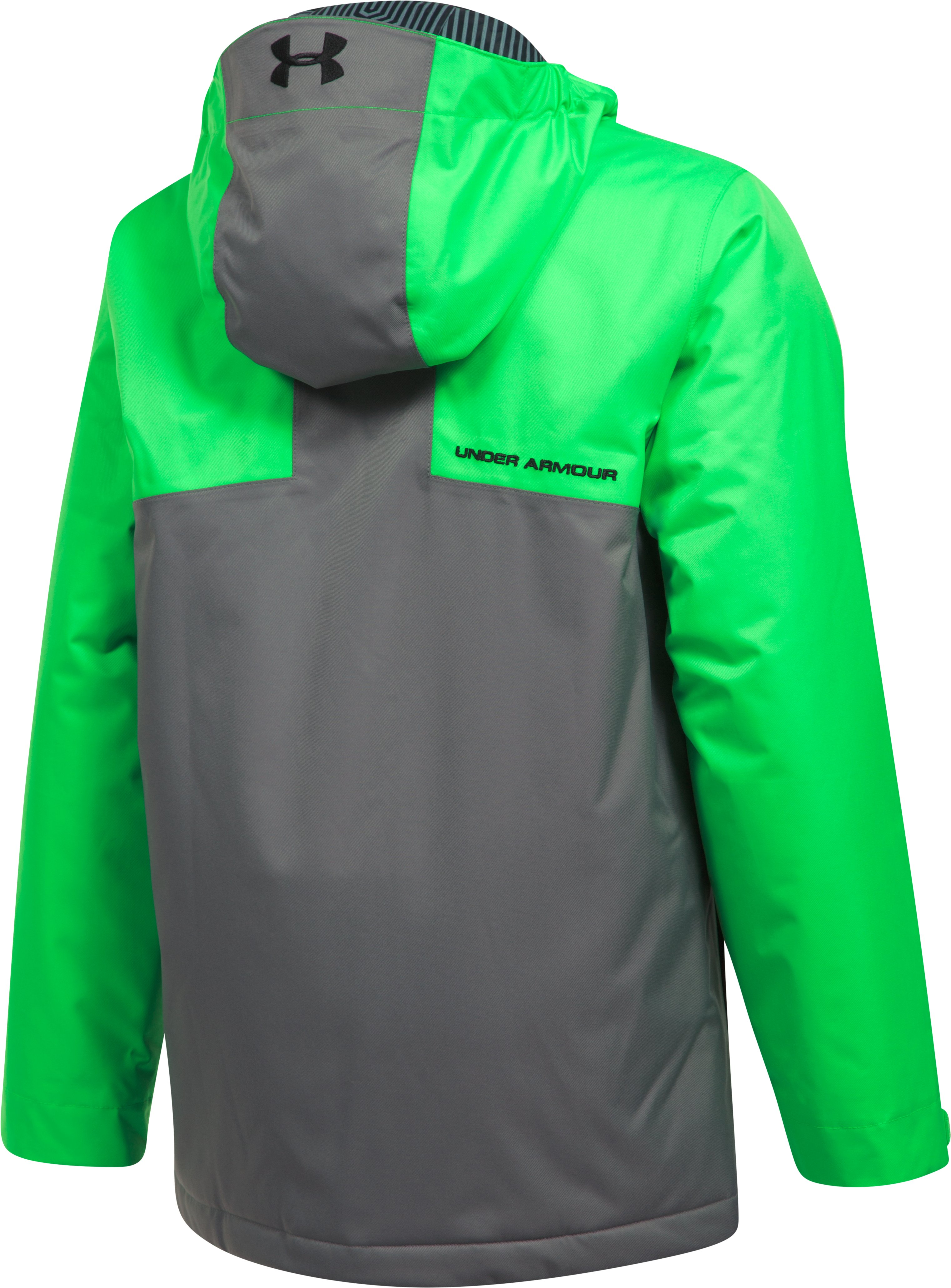 Boys' UA Storm Freshies Jacket, LIME TWIST,