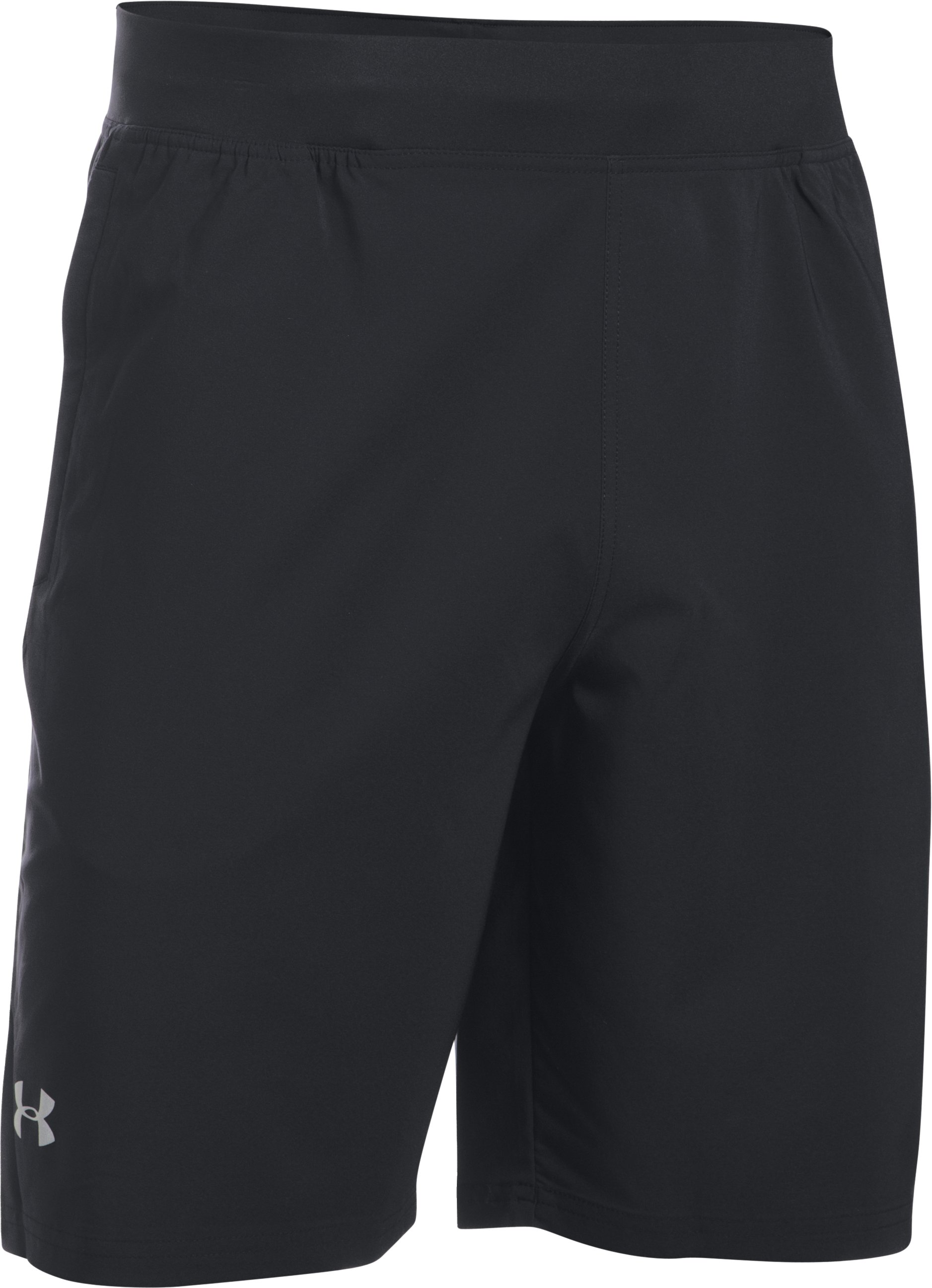 "Men's UA Speedpocket Run 9"" Shorts, Black ,"