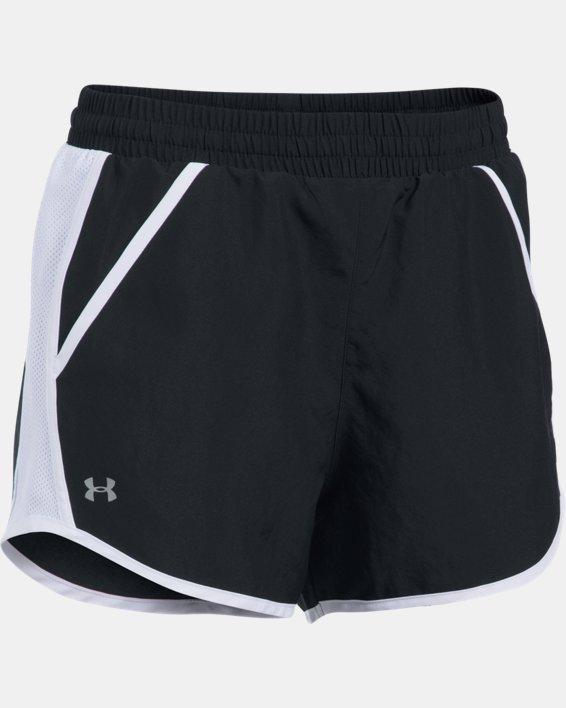 Women's UA Fly-By Shorts, Black, pdpMainDesktop image number 5
